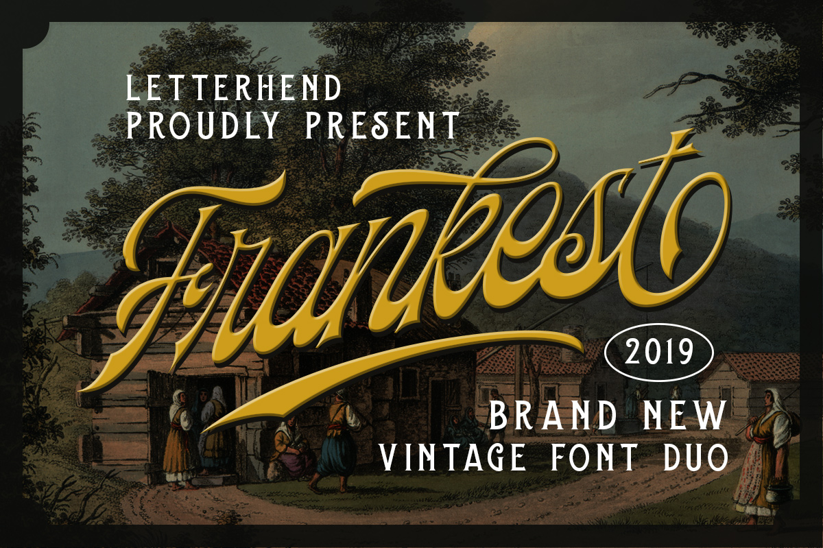 Frankest - The Vintage Font Duo example image 10