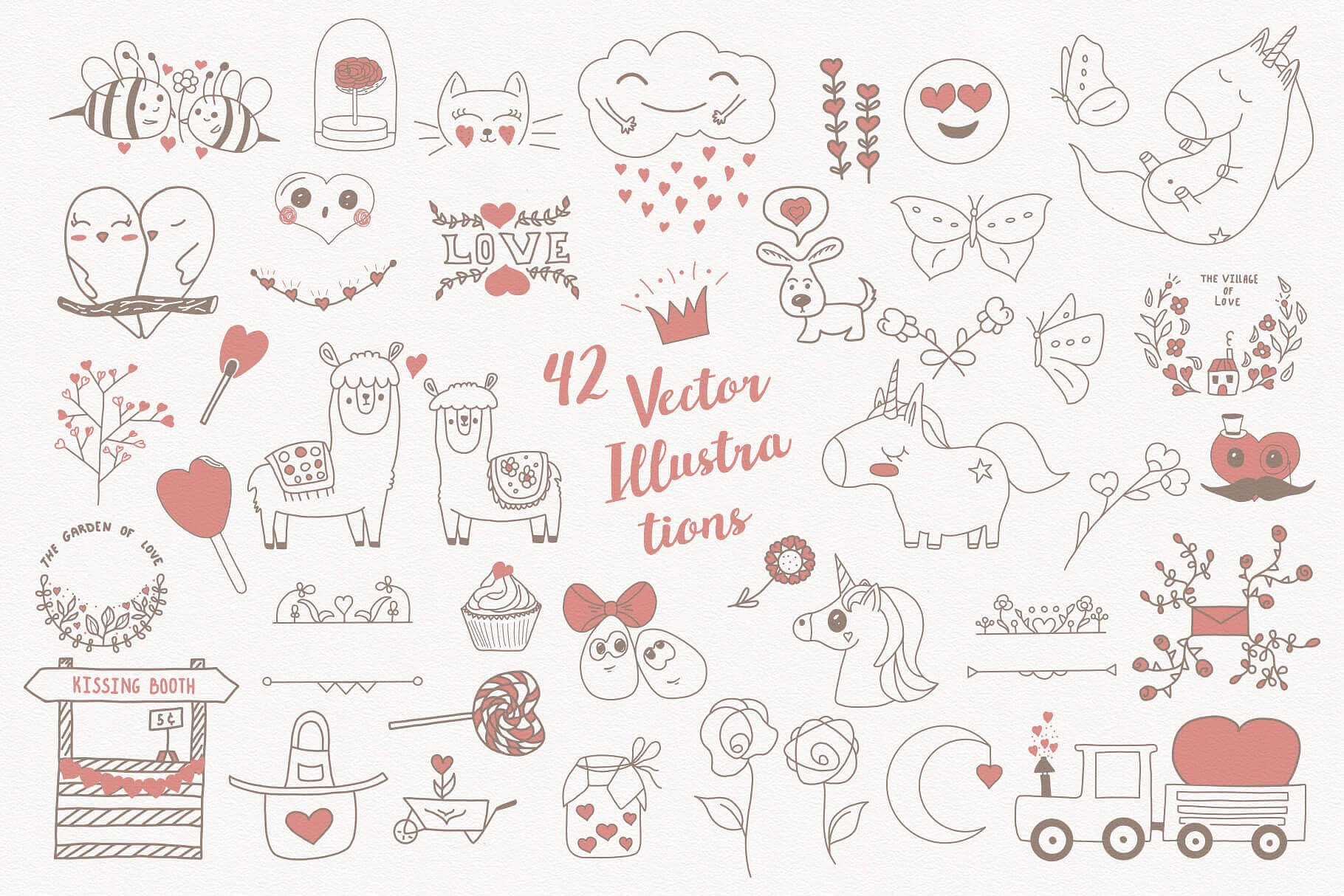 Mom! I'm in Love! Vector Set example image 2