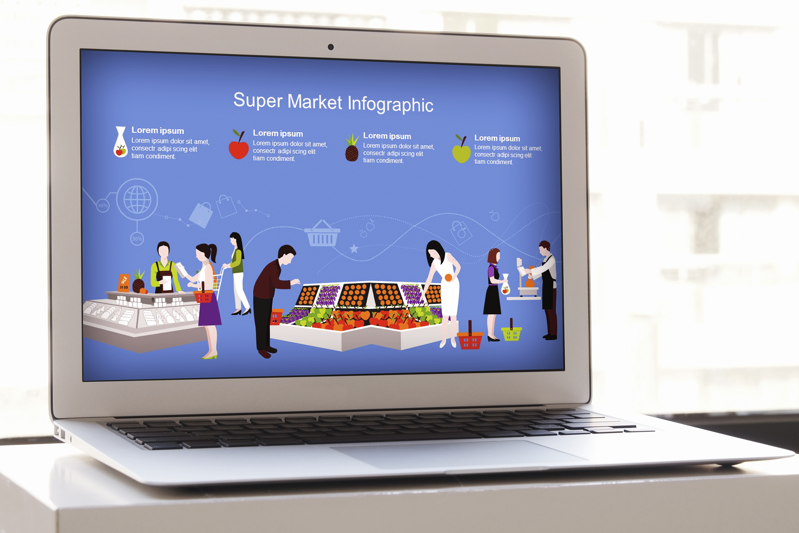 Mega Food PowerPoint Infographic Set example image 3