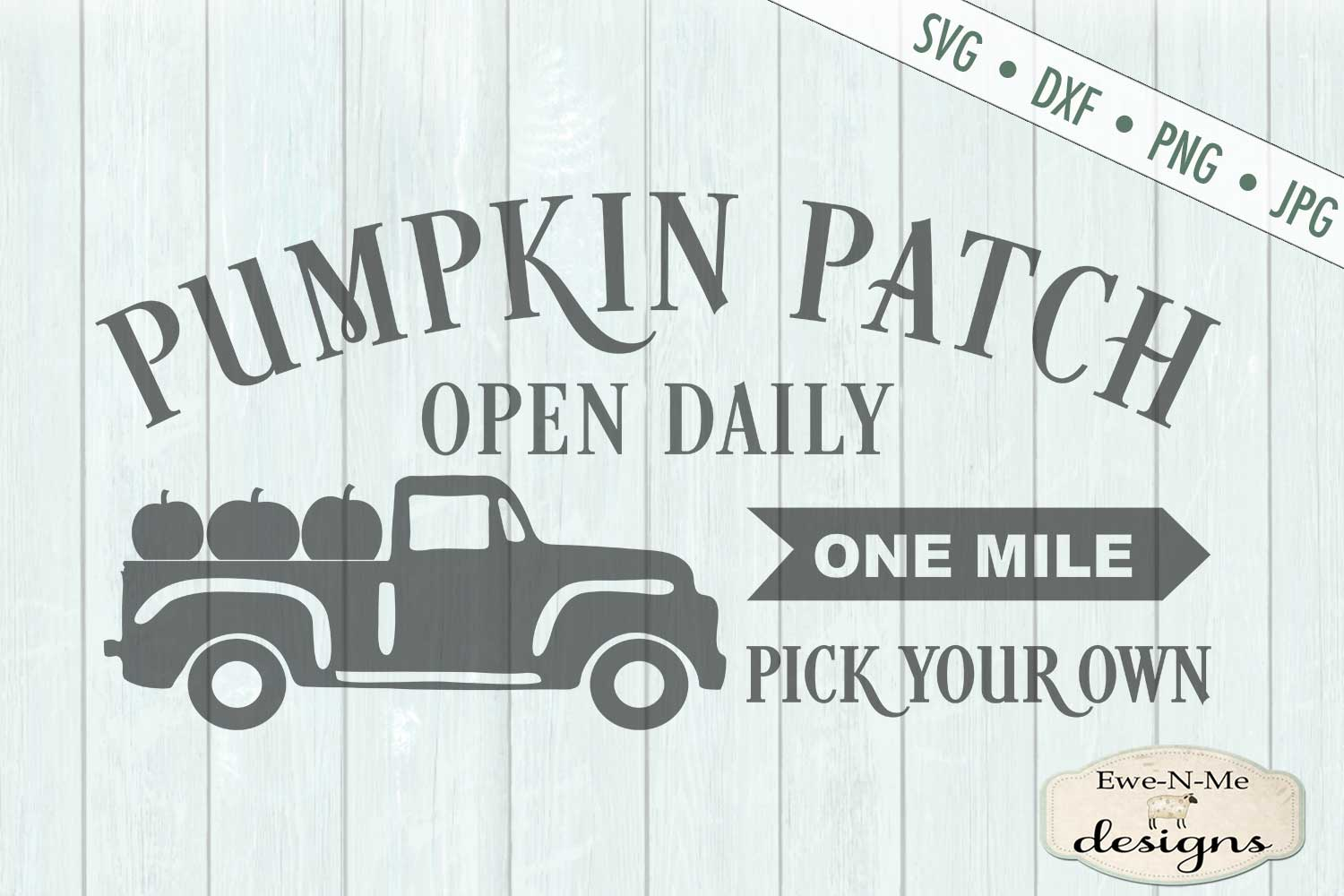 Pumpkin Patch - Truck - Fall - Autumn - SVG DXF example image 2
