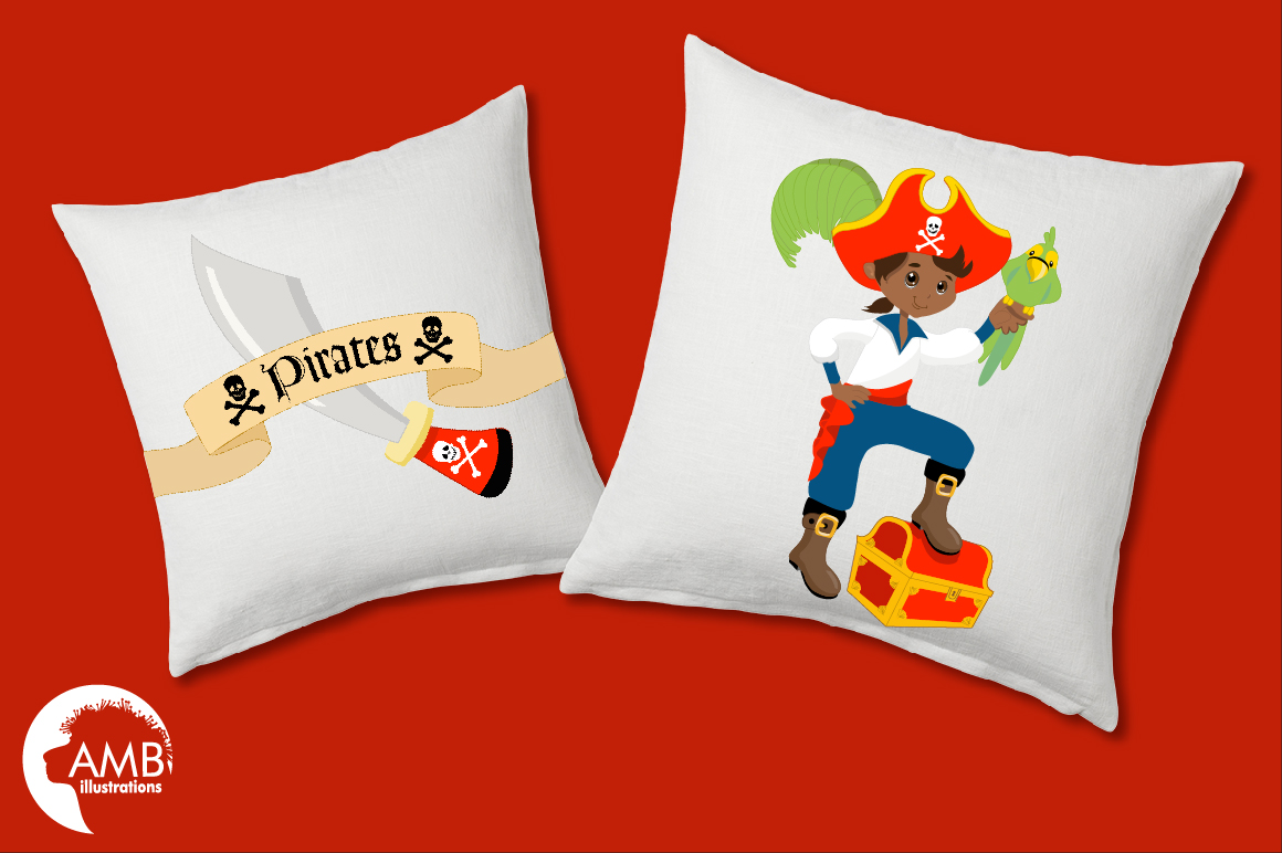 Pirate boys, African American Pirate clipart, graphics and illustrations AMB-174 example image 5