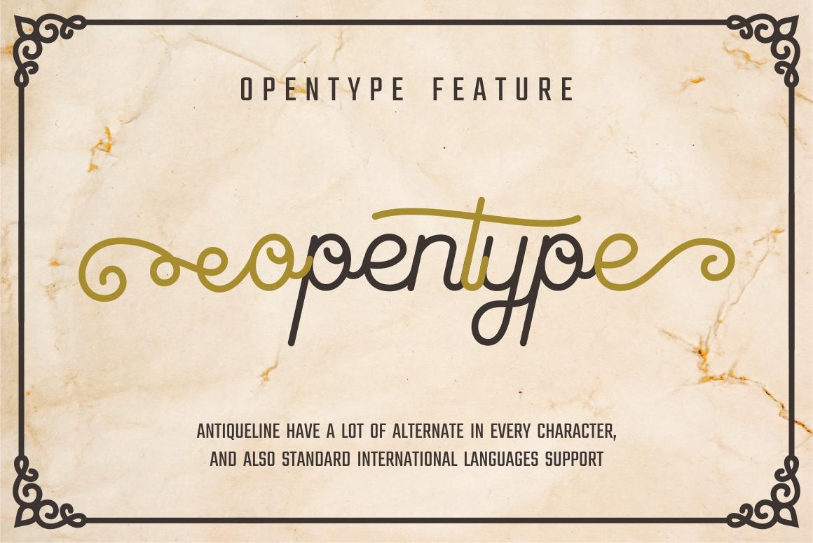 Antiqueline - Monoline Typeface example image 4