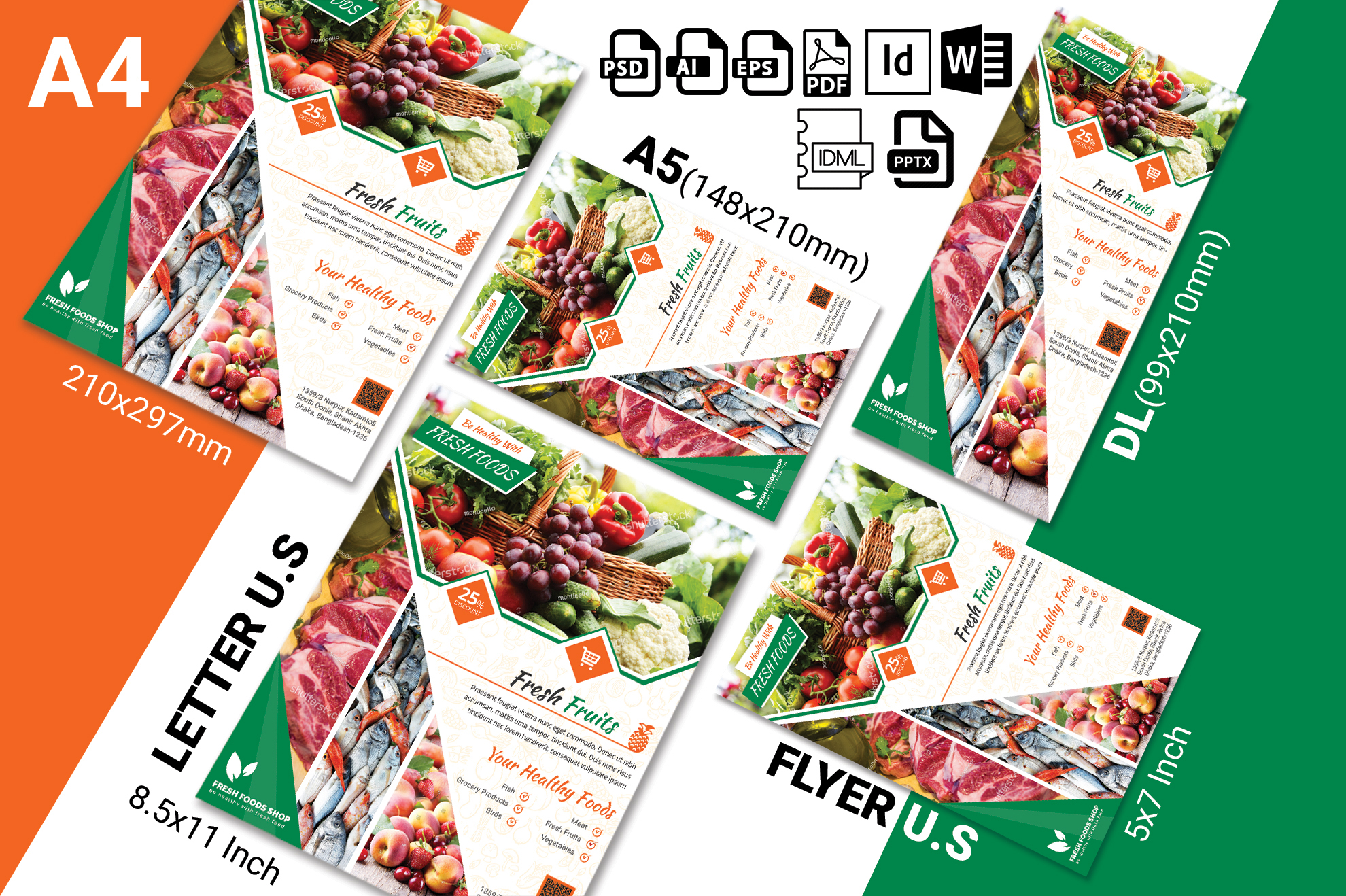 Fresh Food Grocery Shop Flyer Vol-02 example image 2