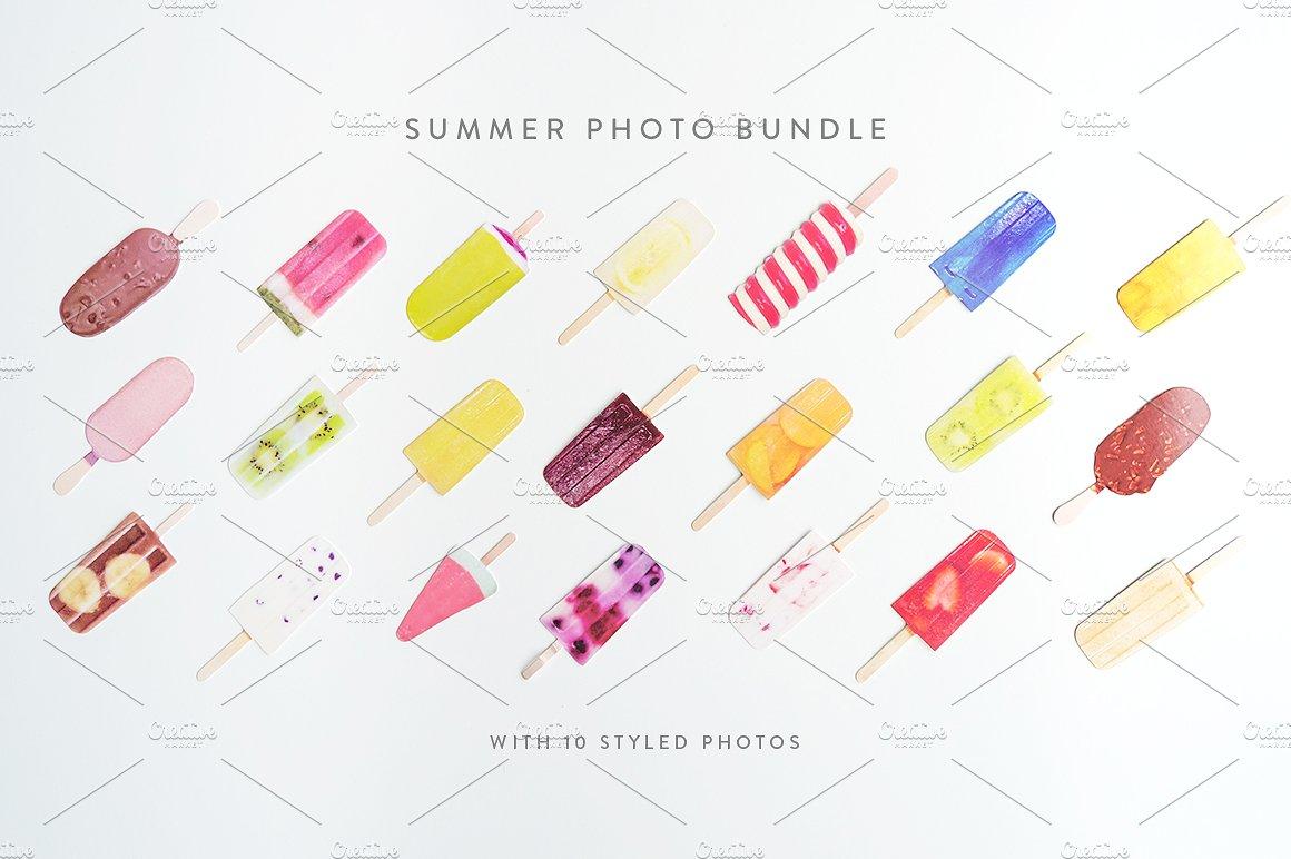 Summer Photo Bundle - Ice Lollies example image 3