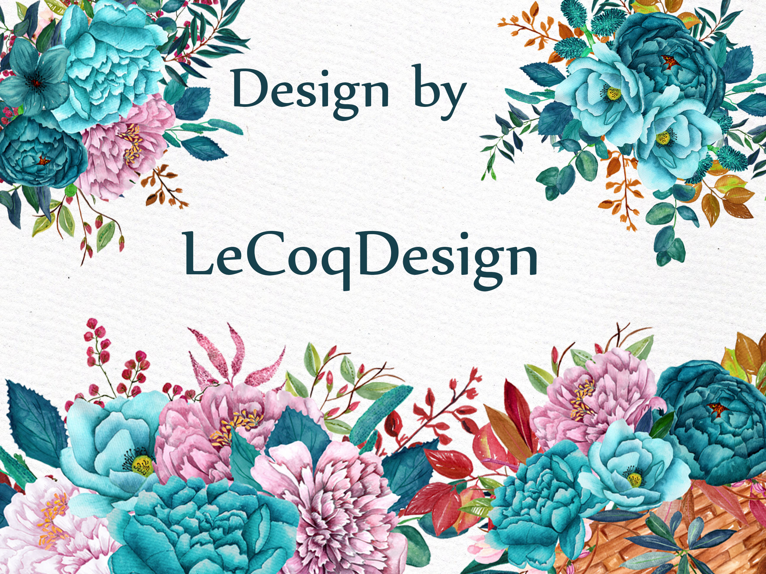Watercolor floral bicycle clipart example image 5