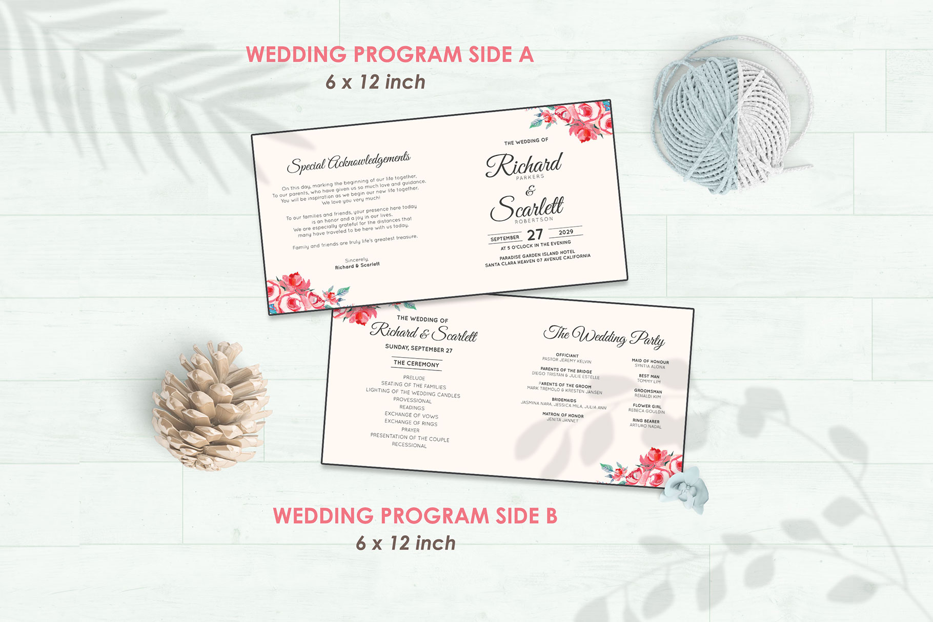 Wedding Invitation Set #11 Watercolor Floral Flower Style example image 5