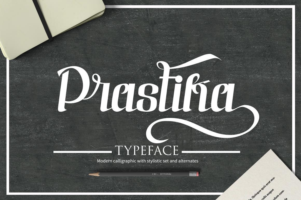 Prastika Script Typeface example image 1