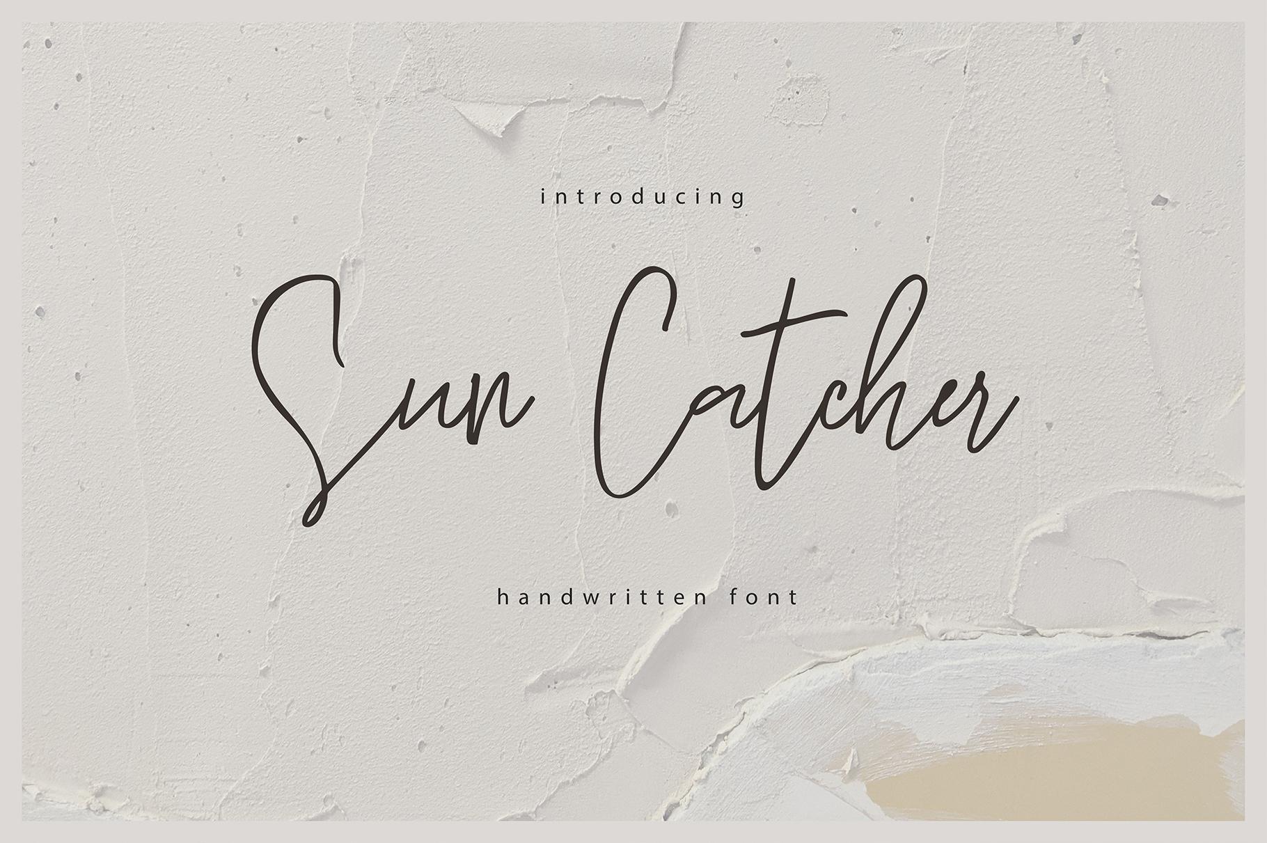 Sun Catcher   Multilingual Handwritten Script Font example image 1