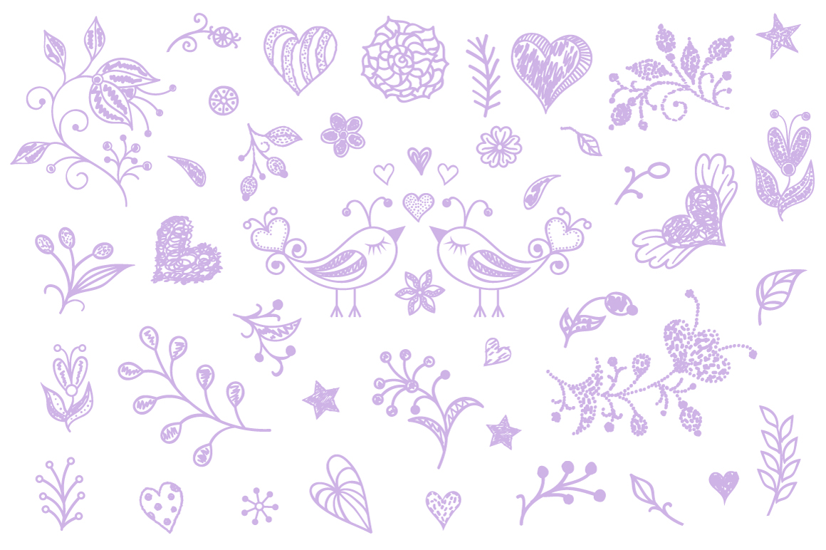 Pastel floral pattern example image 4