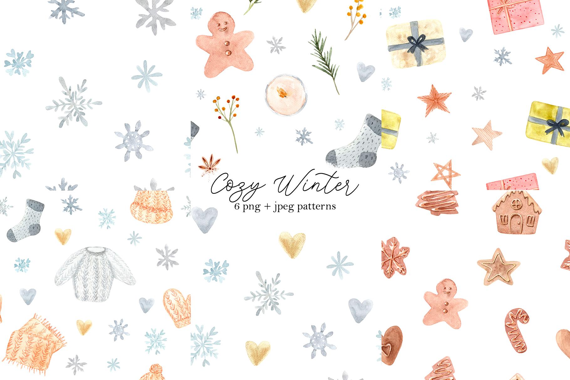 Watercolor Cozy Winter Collection example image 4