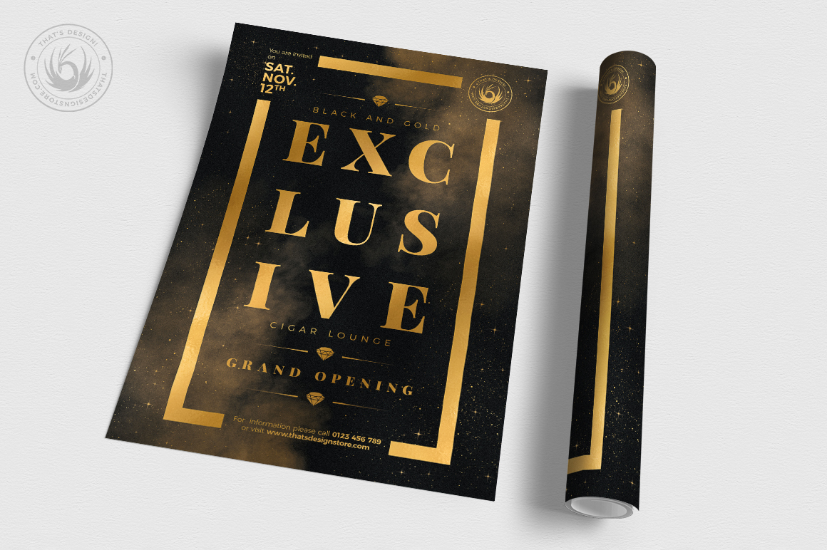 Black and Gold Flyer Template V14 example image 3