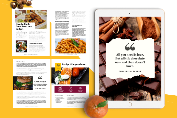 Food Lovers Recipe and Cookbook Canva Template Ebook example image 7