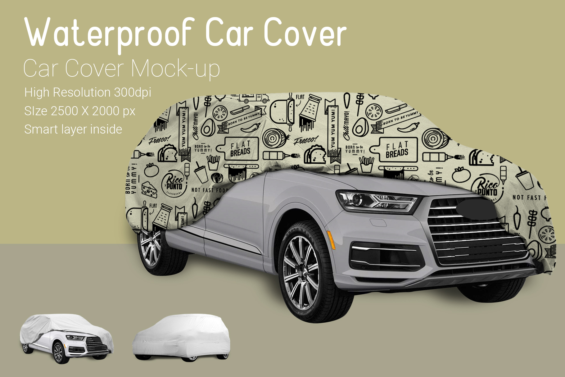 Car Cover Mock-Up example image 5