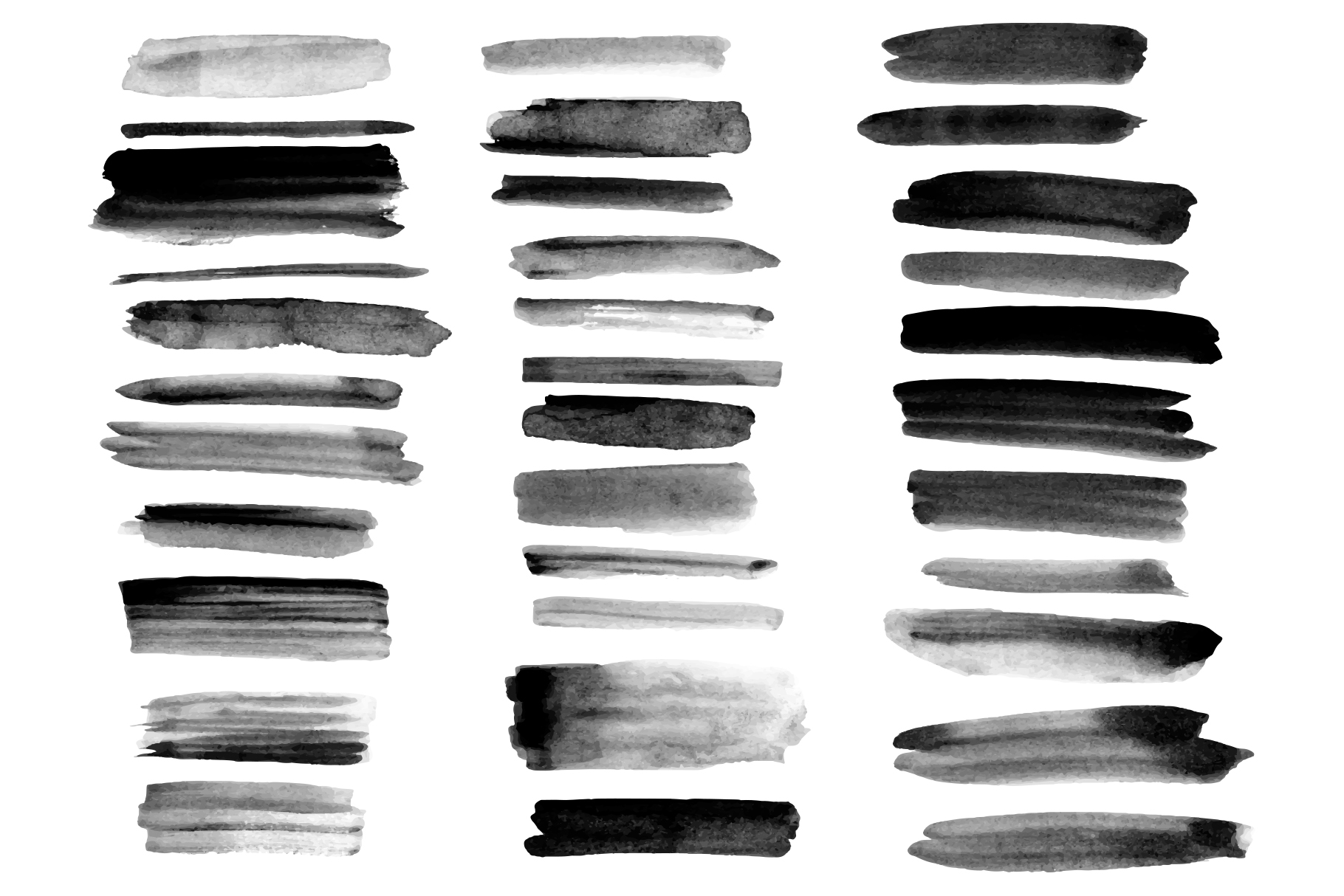 34 watercolor ink brushes. example image 2
