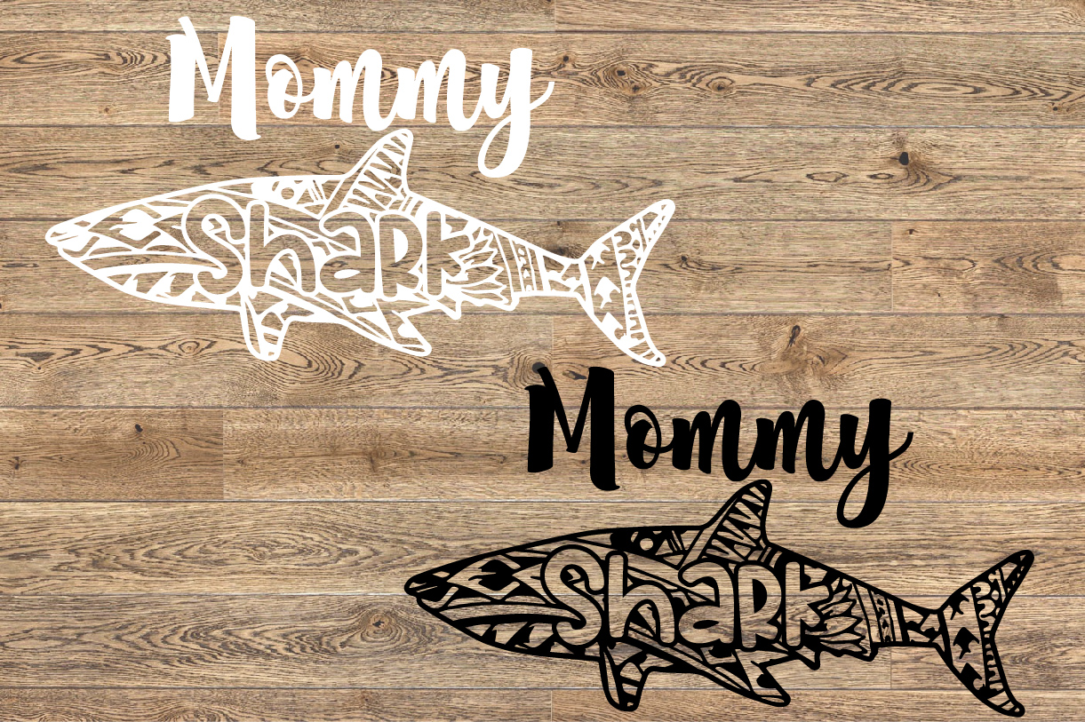 Mommy Shark Tattoo SVG Mother's Day Family Birthday 1319s example image 2