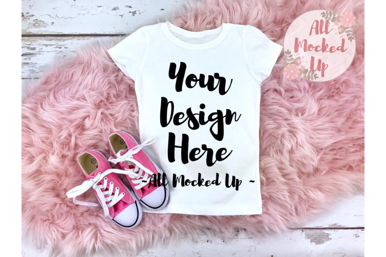 Next Level 3710 White T-shirt Mock Up Pink Theme - 2/19 example image 1