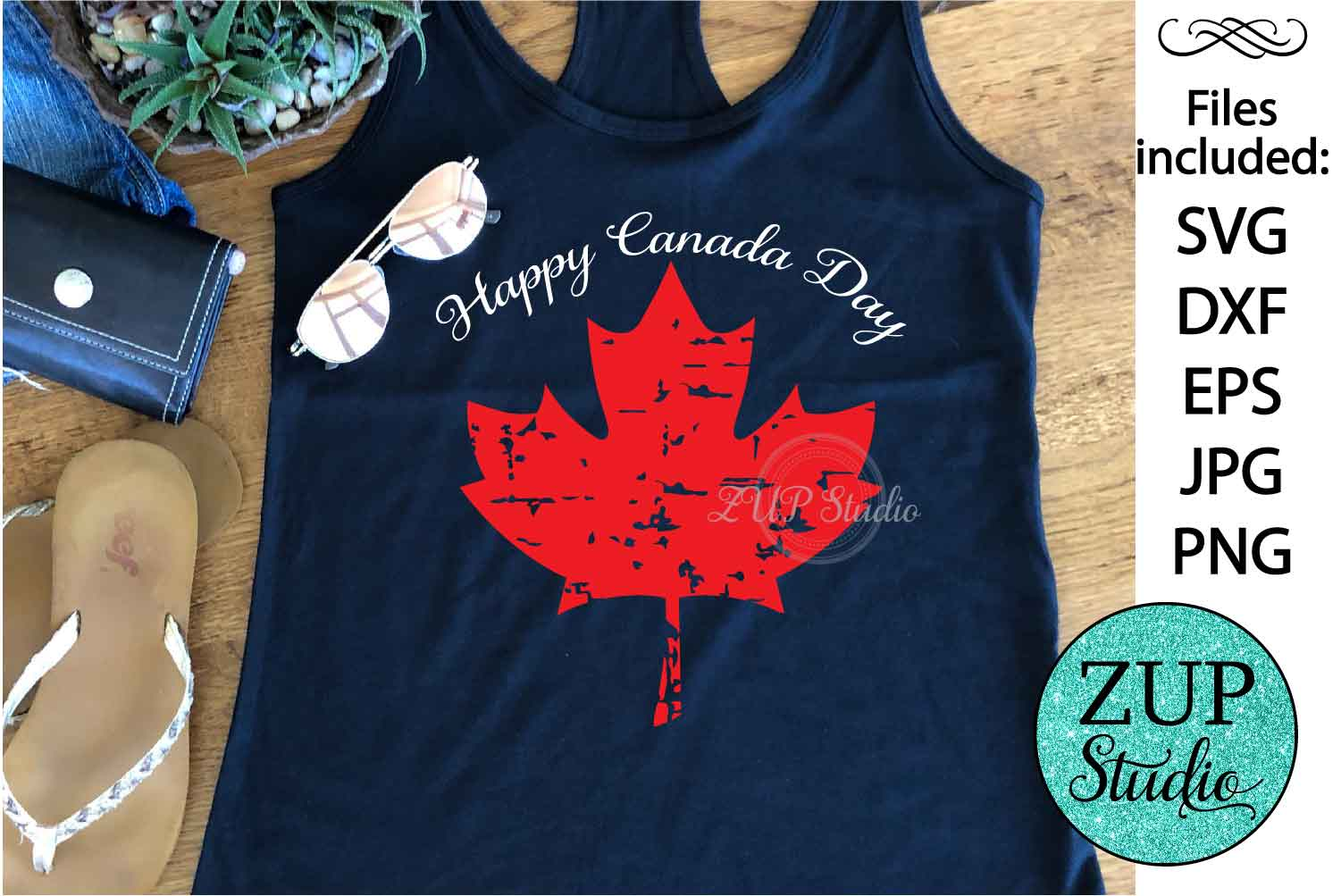 Maple Leaf Canada Day Digital Cutting files file 145 example image 1