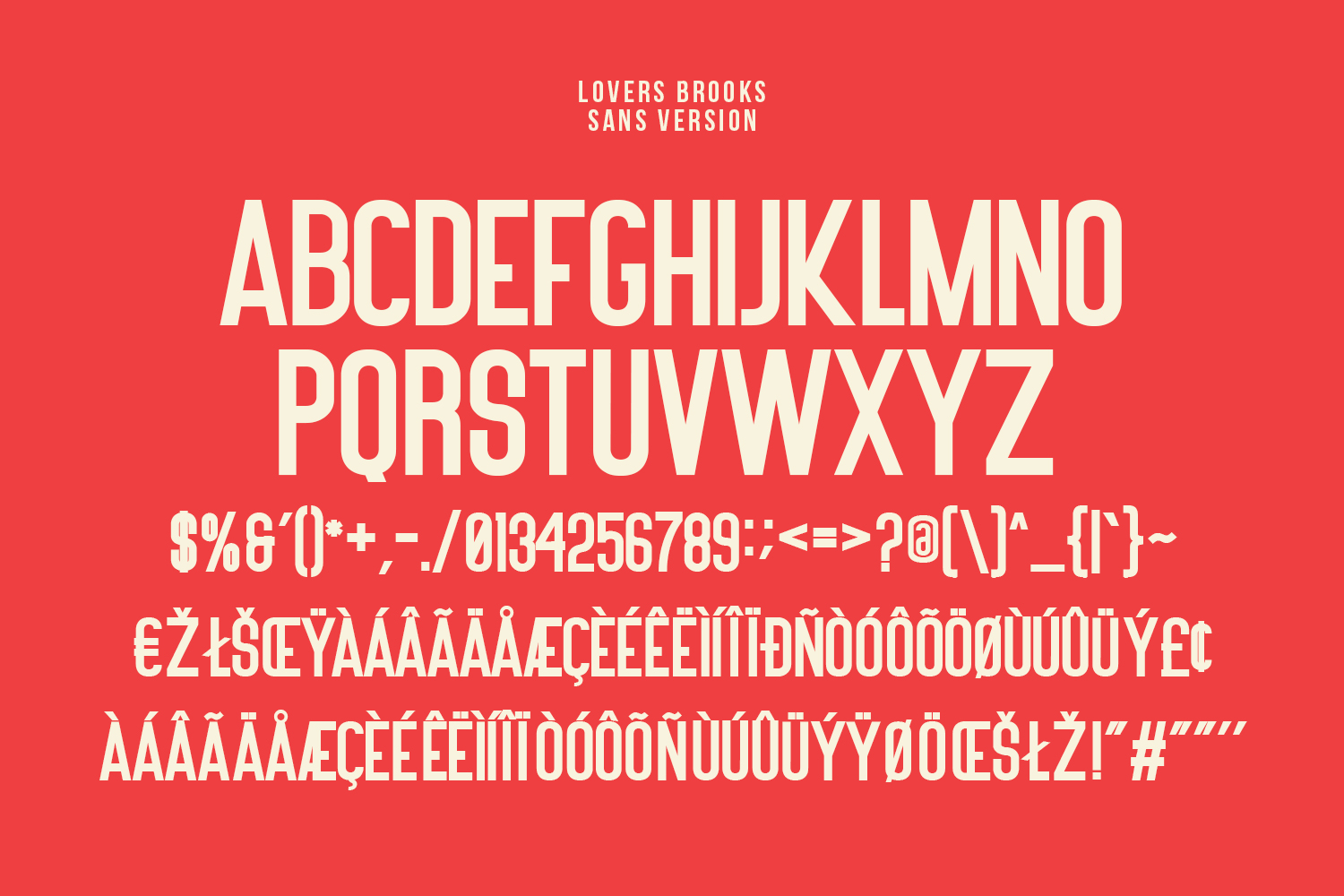Lovers Brooks SVG Brush Font Sans example image 11