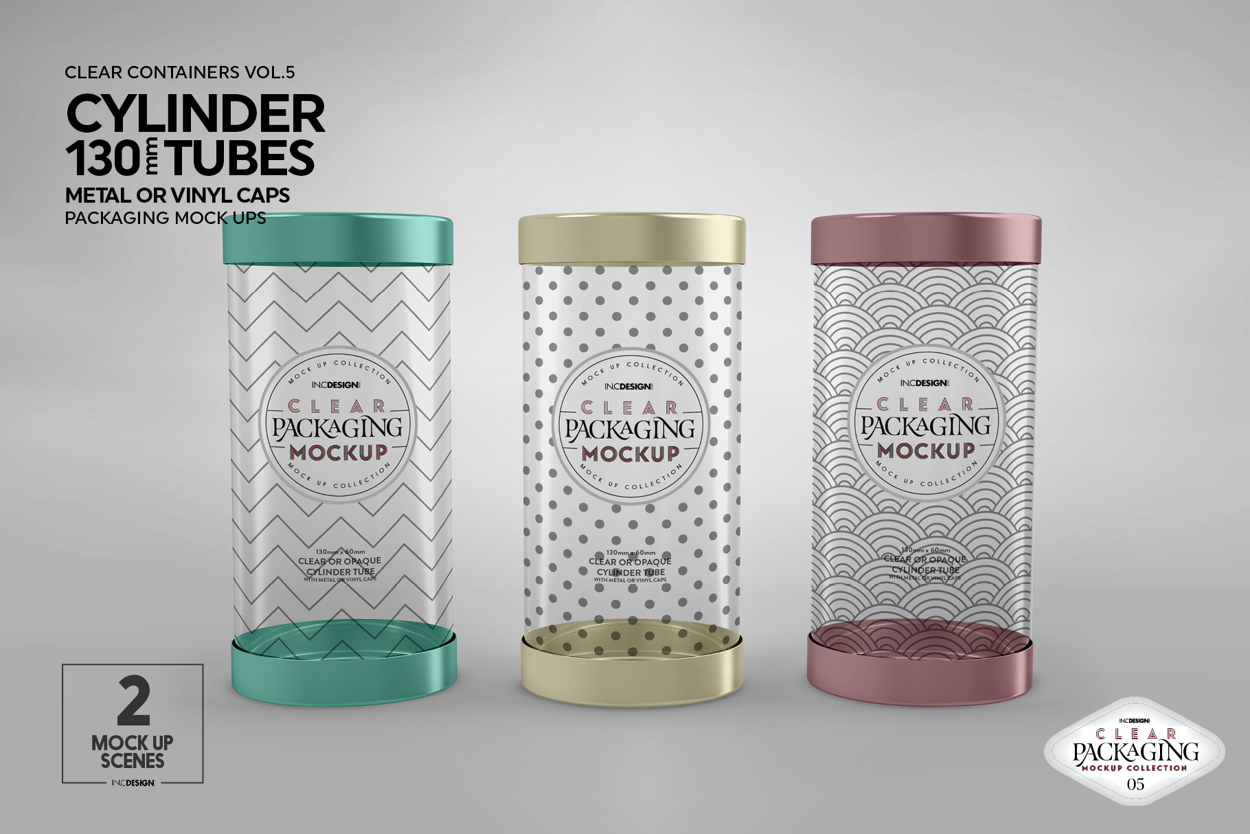 130mm Cylinder Tube Packaging Mockup example image 7