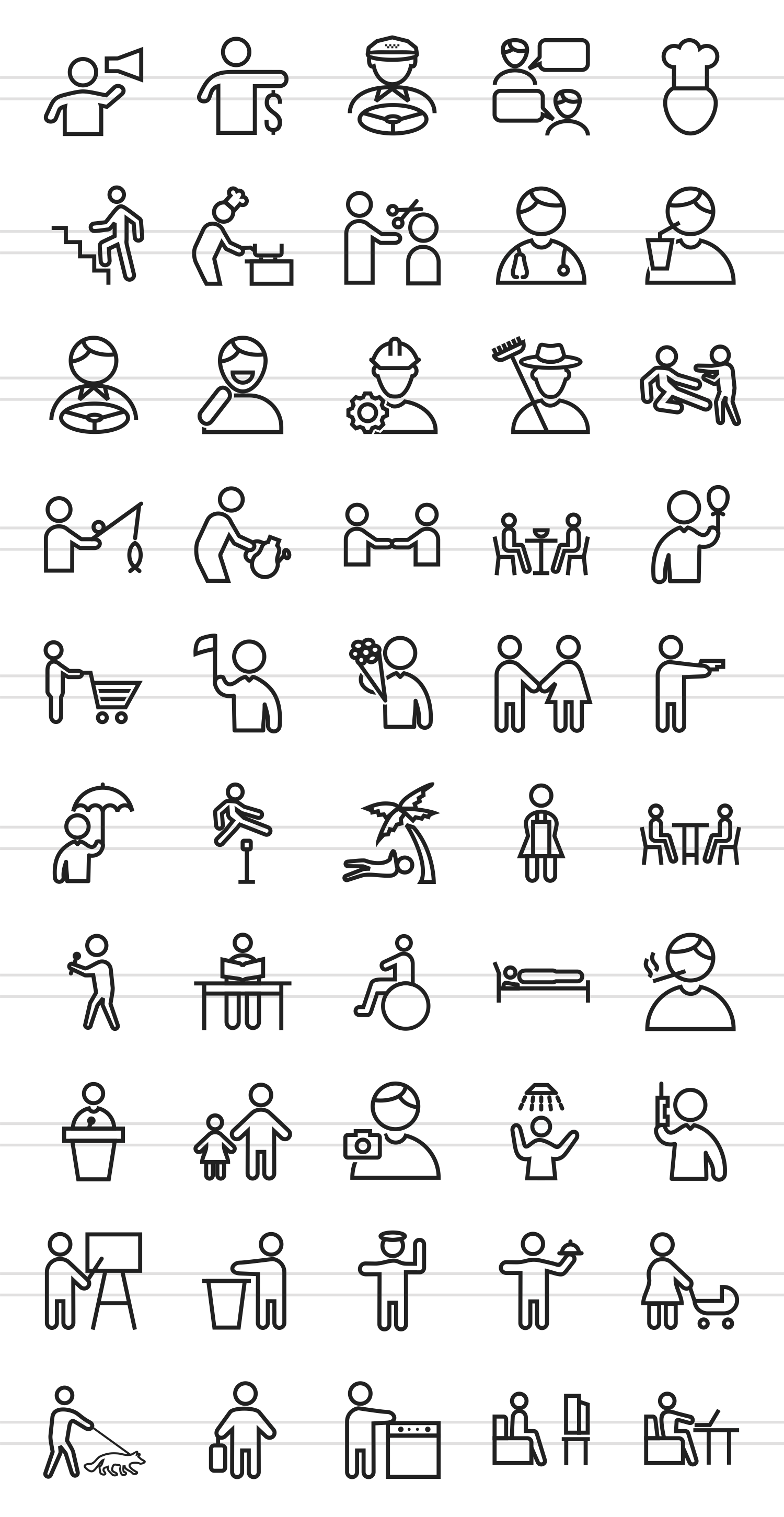 50 Activities Line Icons example image 2