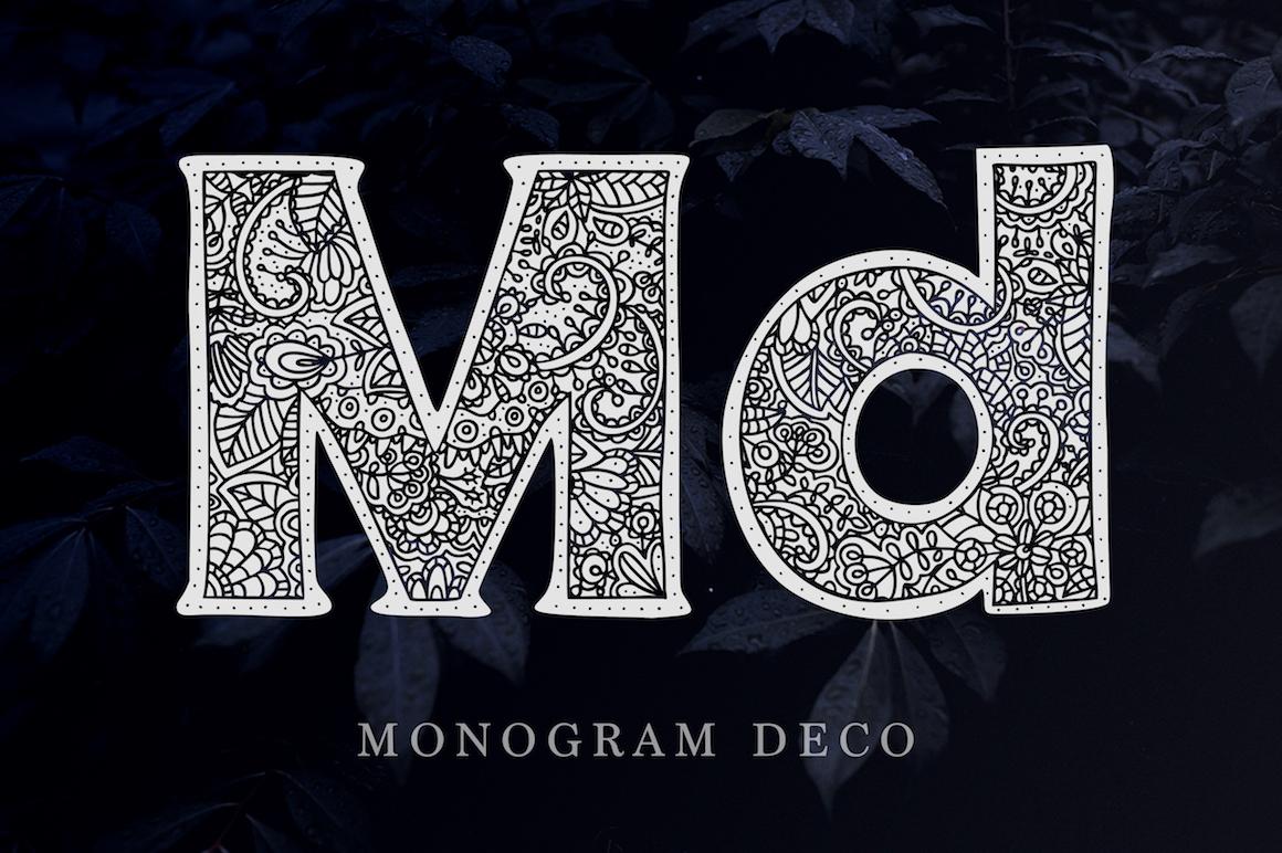 Monogram. 5 elegant fonts. example image 5