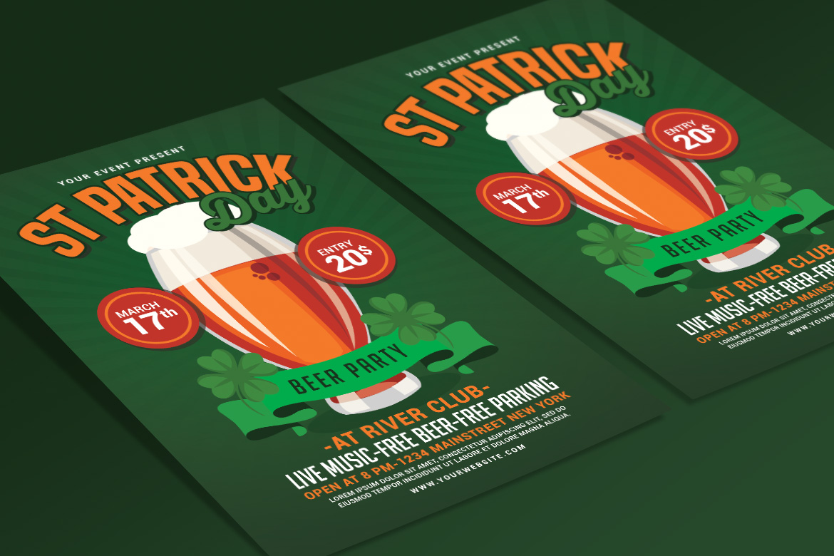 St Patricks Day Beer Party Flyer example image 4