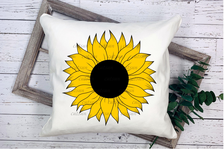 Sunflower SVG bundle   Floral bundle SVG example image 6