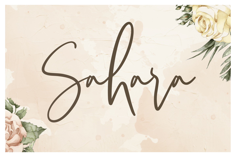 Sarvati Script Font example image 5