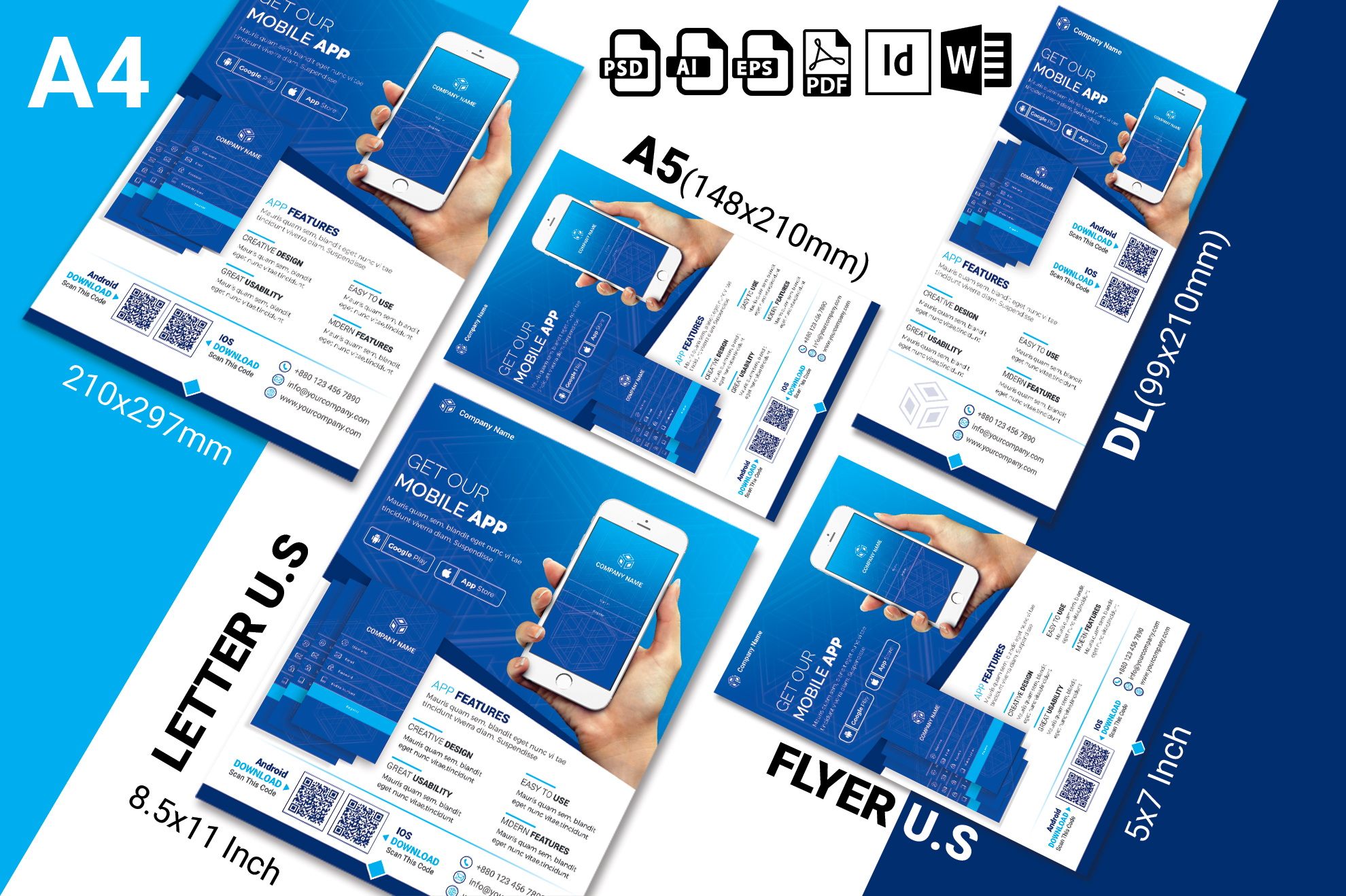 Mobile App Promotional Flyer Vol-03 example image 2