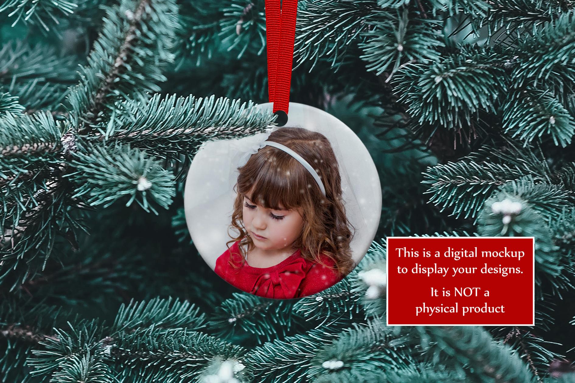 Christmas Ornament Mockup, PSD Smart Object & JPG example image 2