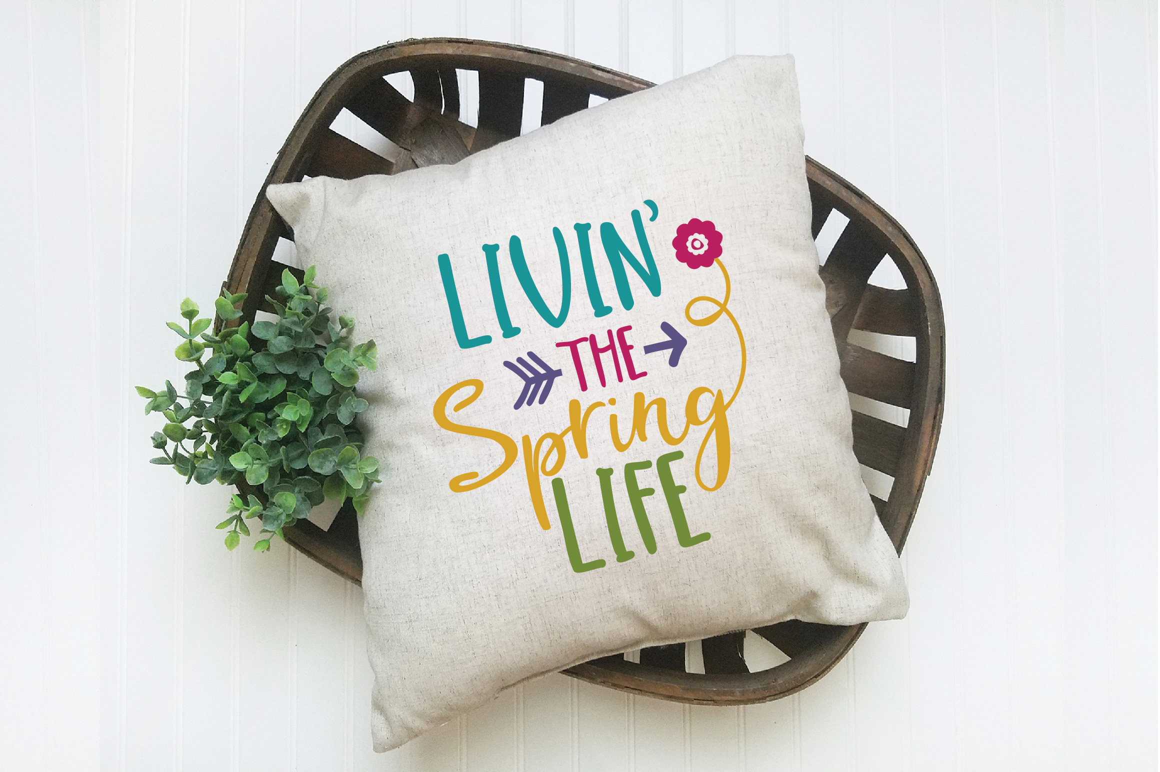 Livin' the Spring Life SVG Cut File - Spring SVG DXF EPS PNG example image 6