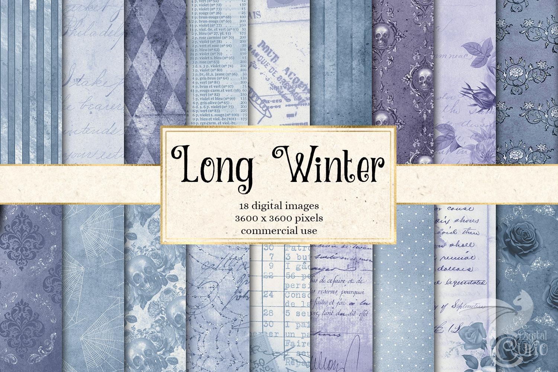 Long Winter Textures - Vintage Digital Paper example image 1