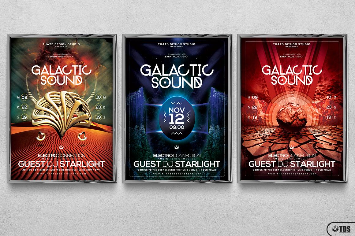 Galactic Sound Flyer Bundle example image 19