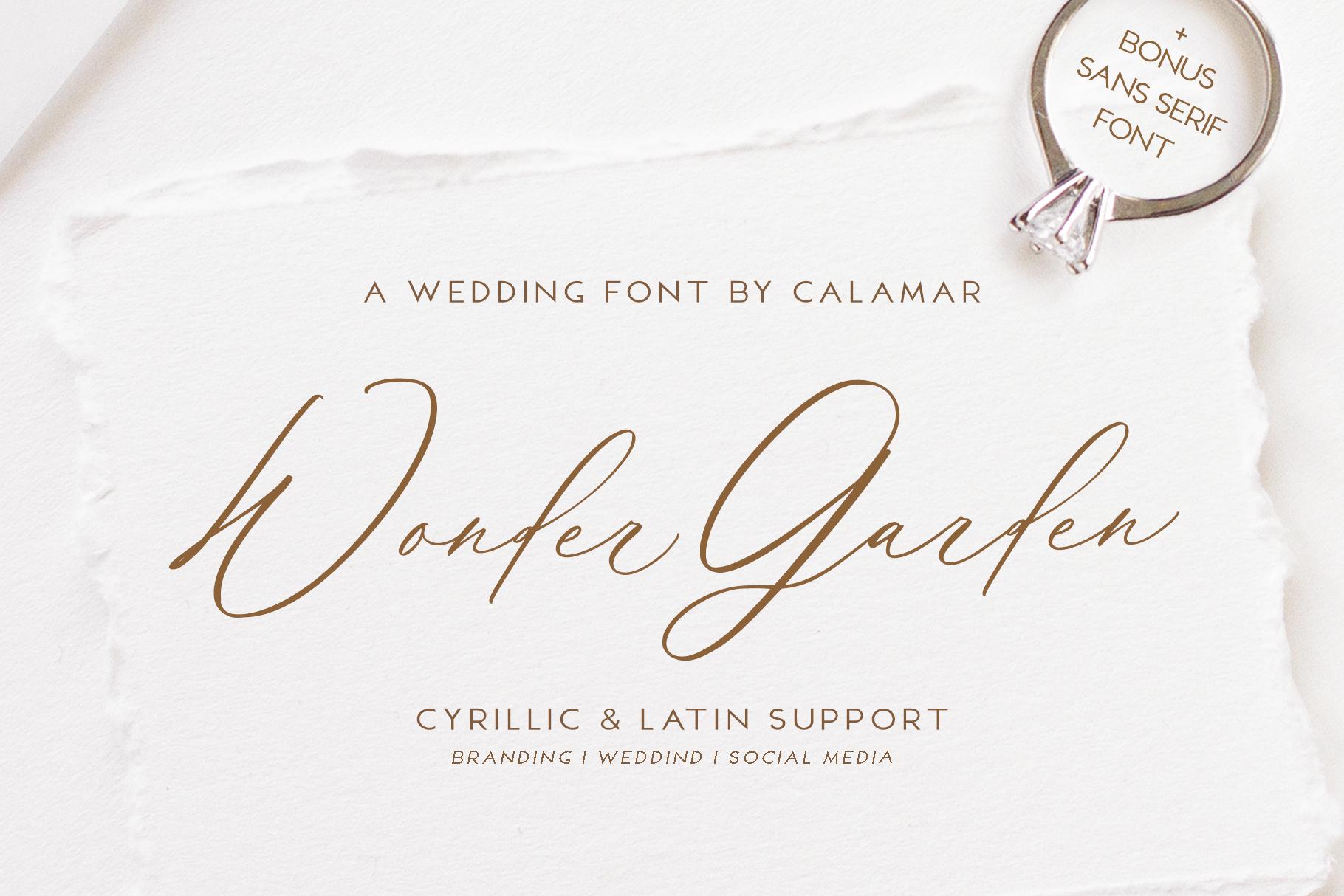 Wonder Garden | Latin&Cyrillic Font example image 1