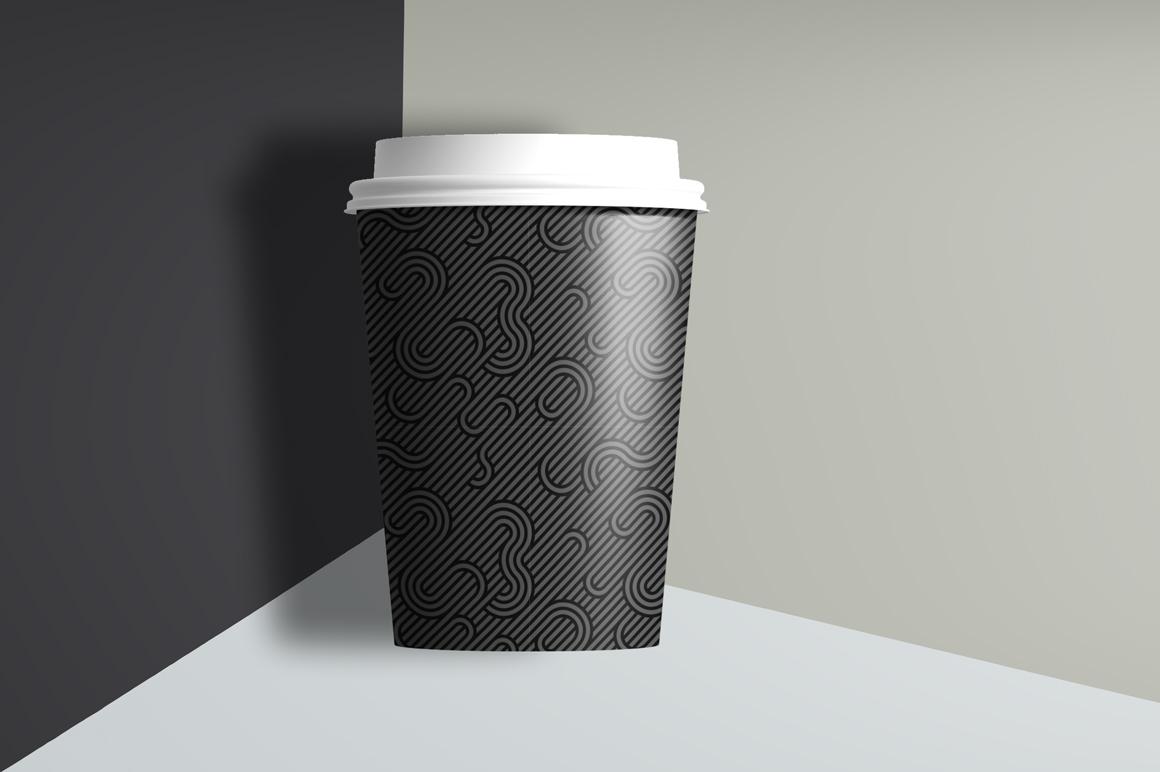 Dark striped geometric patterns example image 6