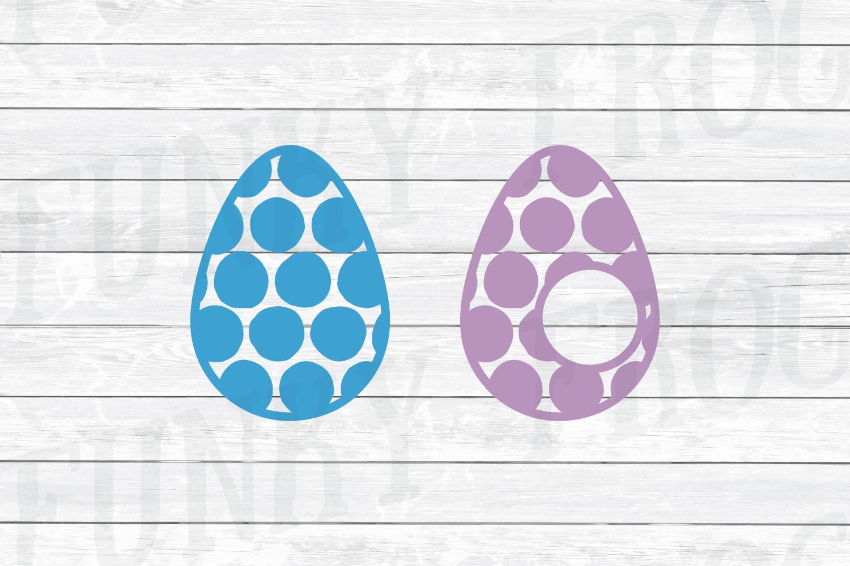 Easter Monogram Frame Bundle - Egg and Bunny SVG Cut Files example image 7