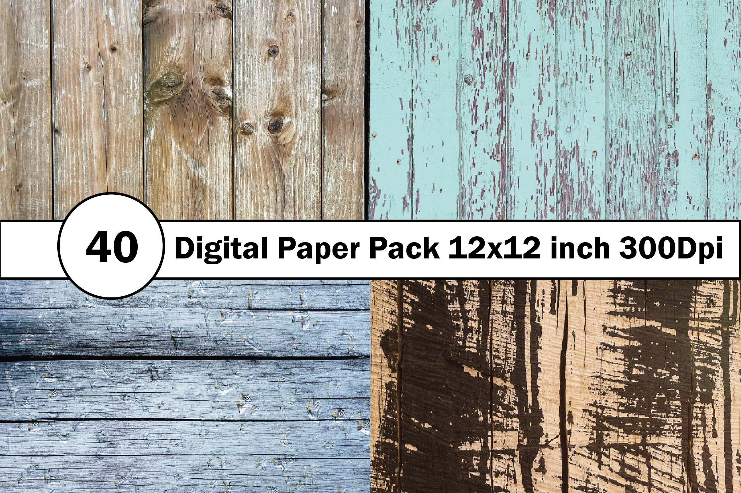 40 Digital Paper Pack 12x12 inch 300 Dpi example image 9