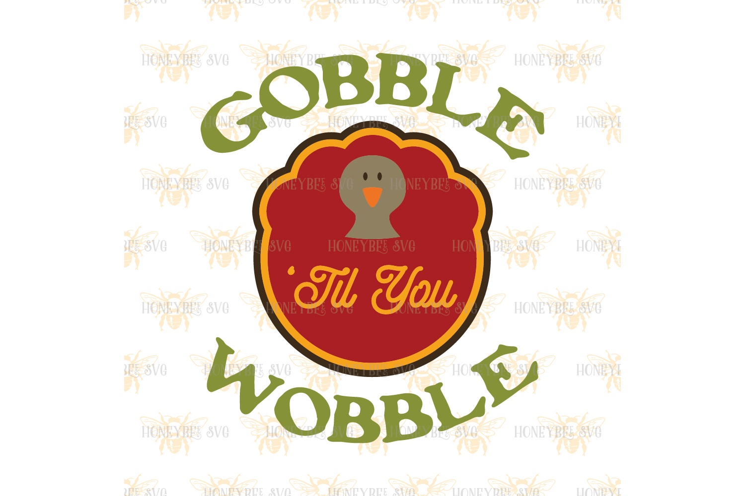 Gobble Til You Wobble svg  example image 2