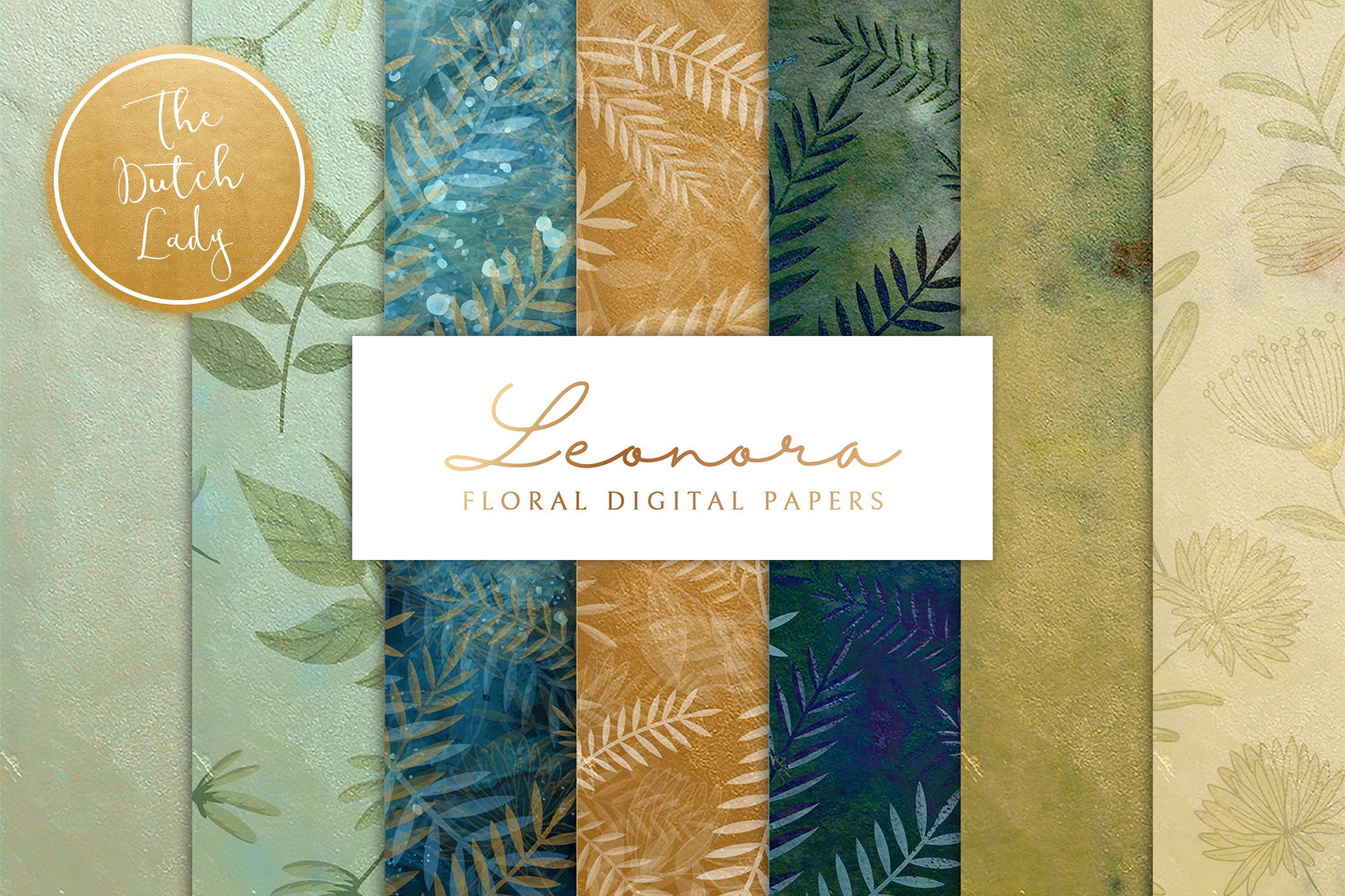 Floral Backgrounds & Paper Designs - Leonora example image 1