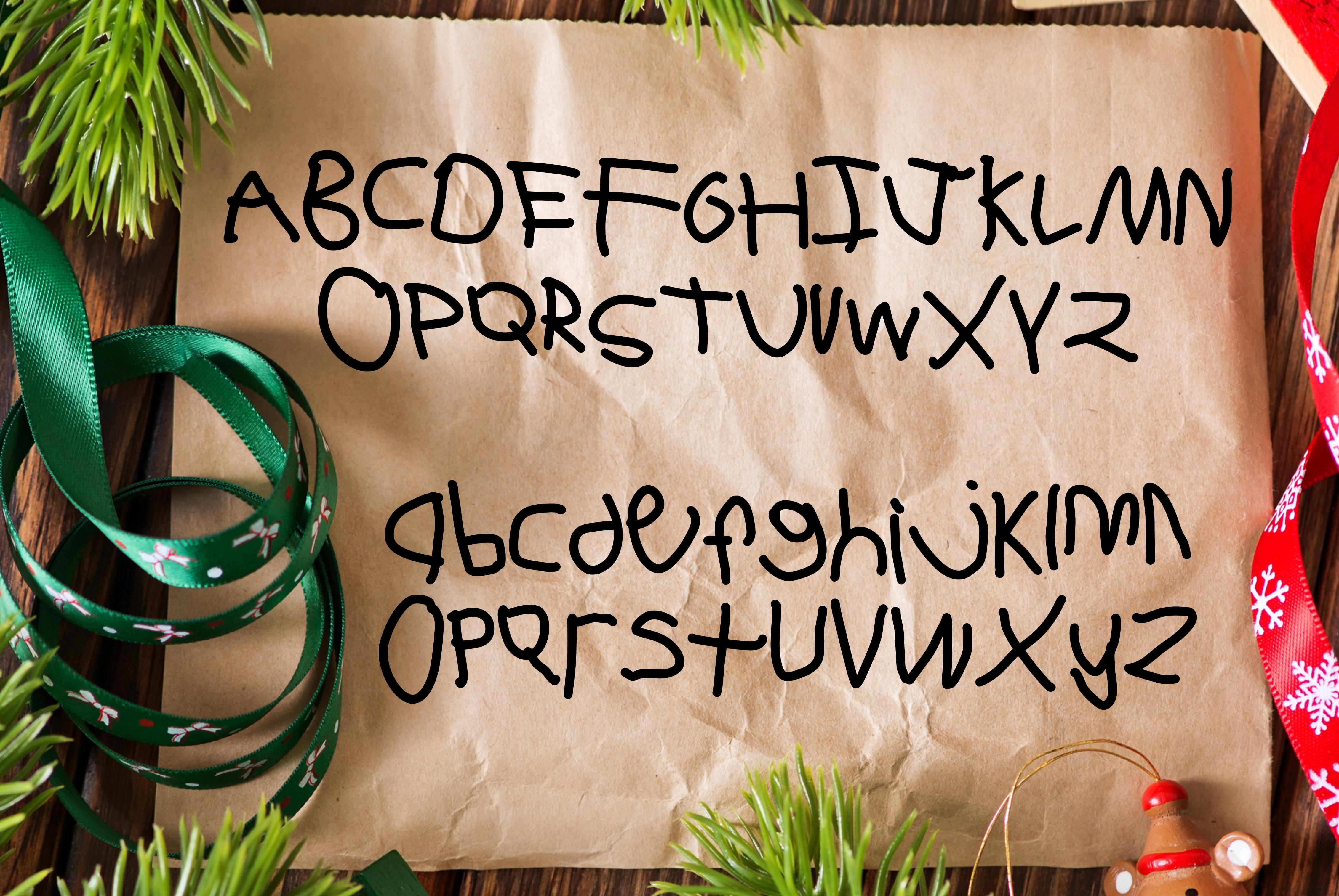 Dear Santa a Kid Made Font example image 2
