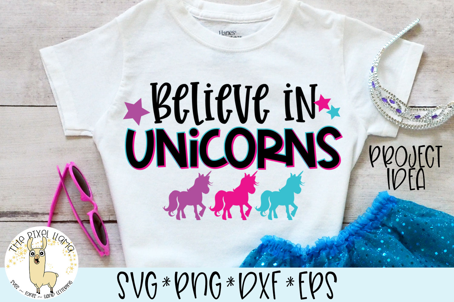 Believe In Unicorns SVG Cut File example image 1