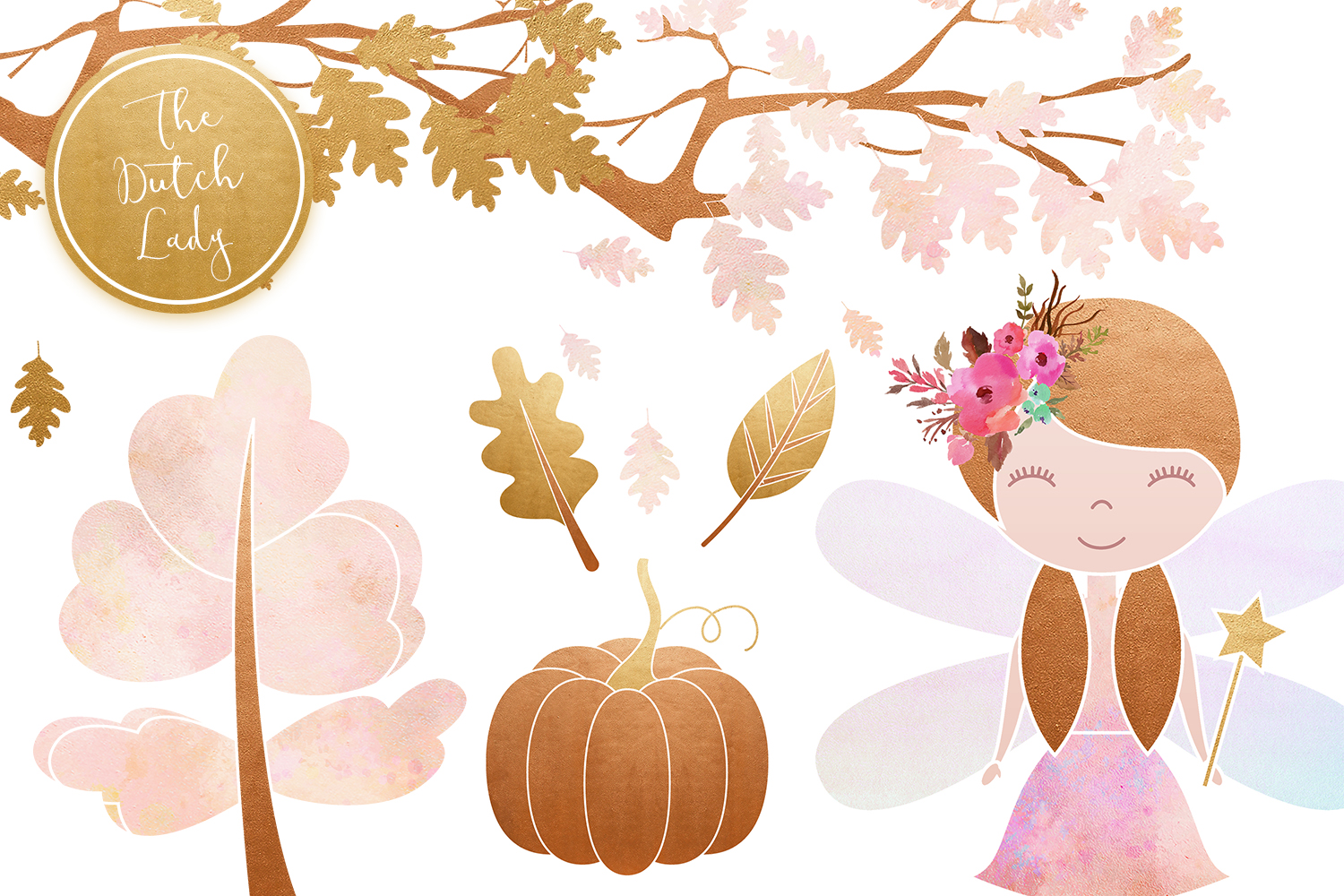 Enchanted Fairy Forest Clipart Set example image 4