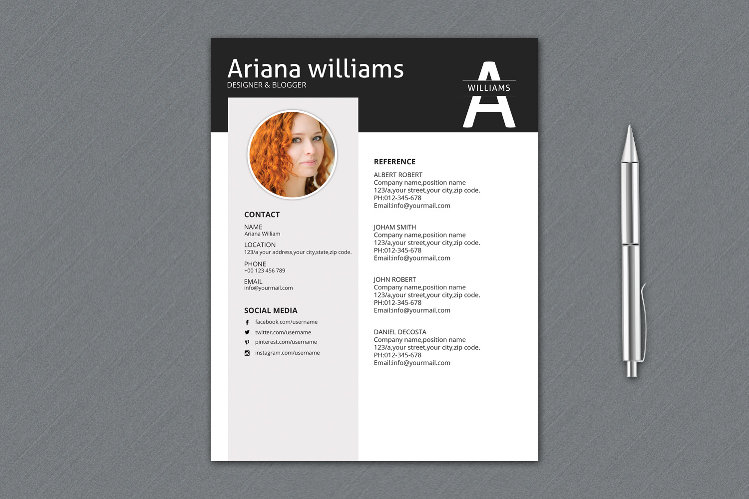Resume Template | Cv Template, Professional Resume example image 3