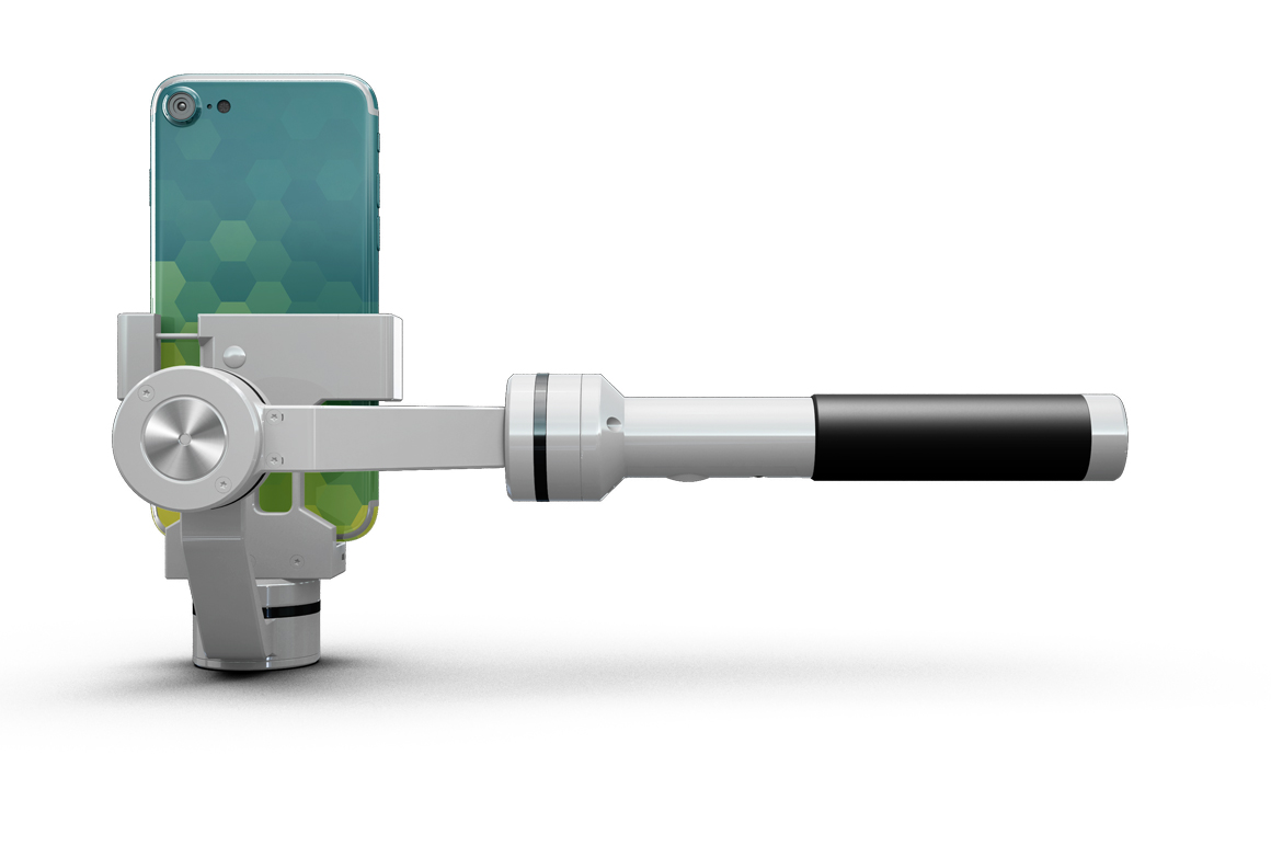 iPhone 7 with Selfie Stick Mockup example image 8