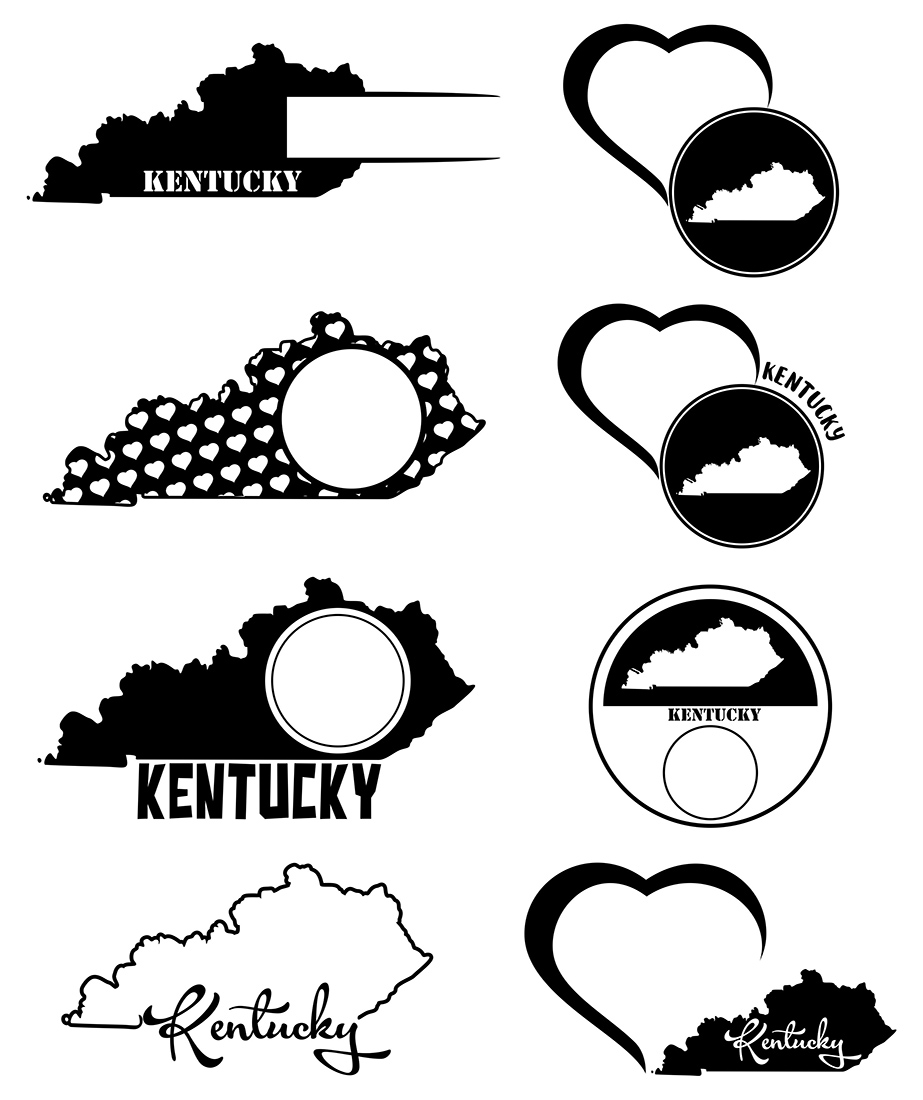 Kentucky Monograms SVG, JPG, PNG, DWG, CDR, EPS, AI example image 3