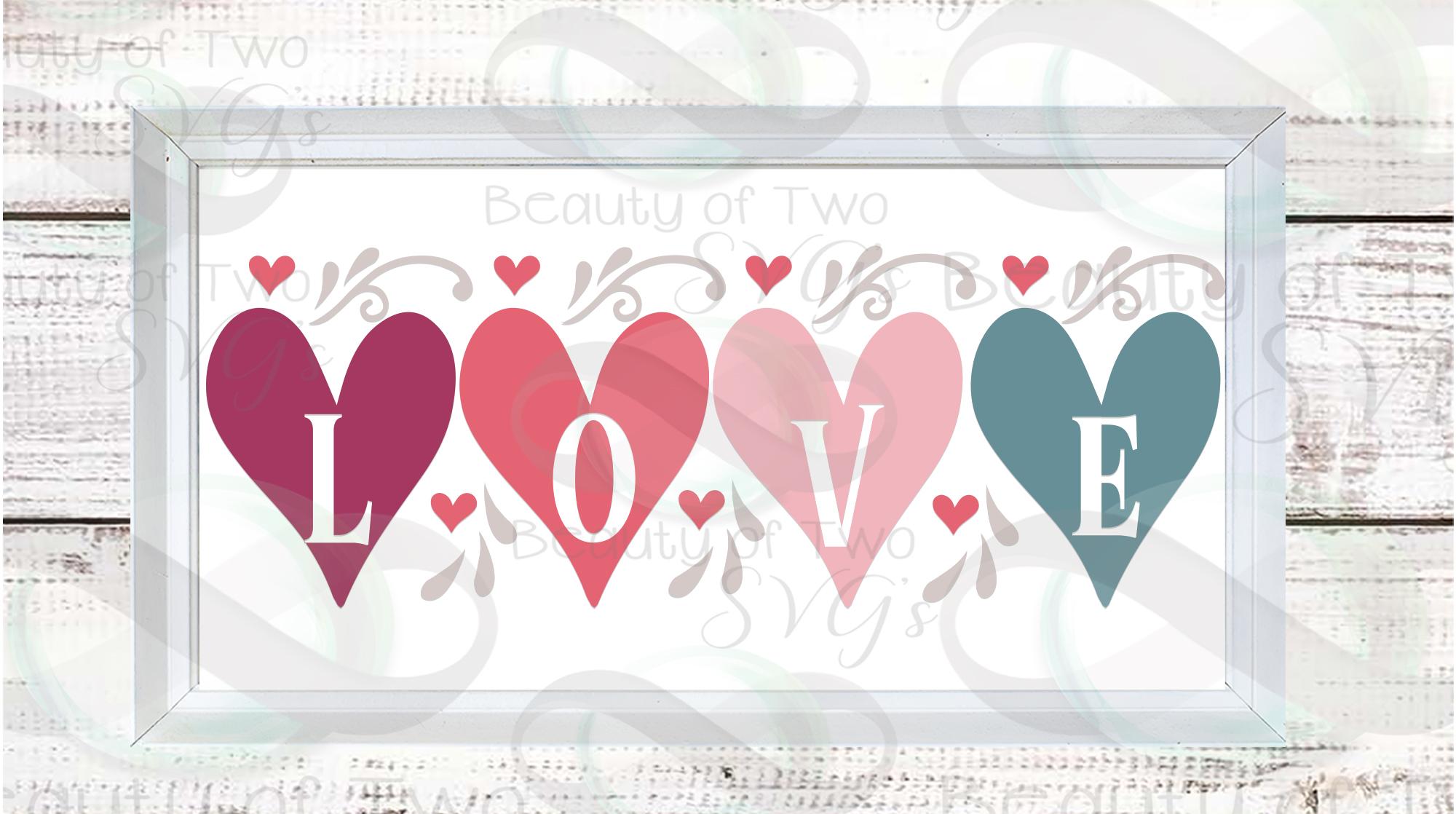 Farmhouse Valentines Svg Sign Bundle, 6 Valentine svgs example image 3