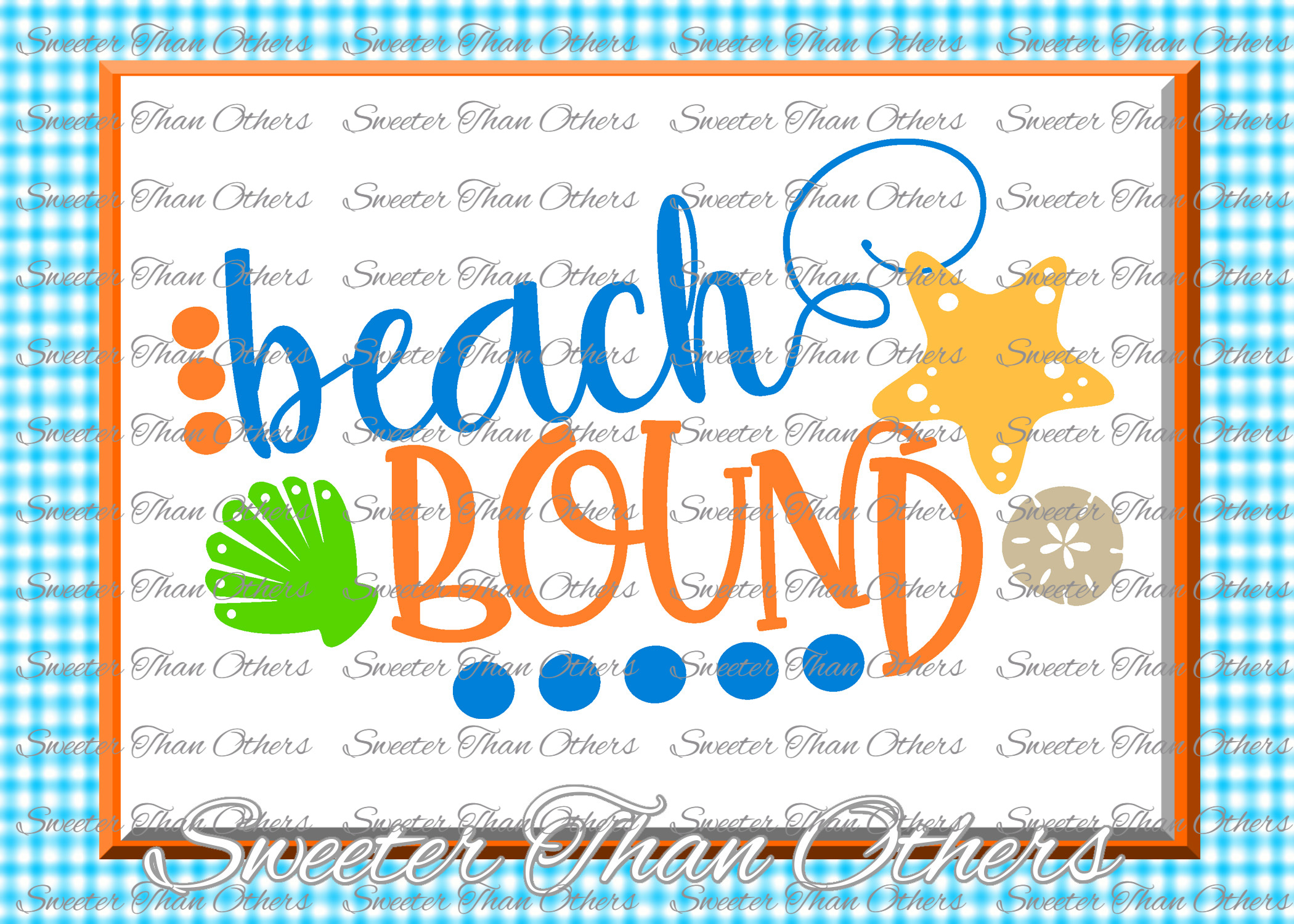 Beach Svg Beach Bound svg, Summer Beach pattern example image 1