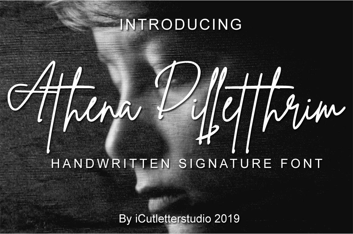 Athena Dilletthrim - Handwritten Signature Font example image 1