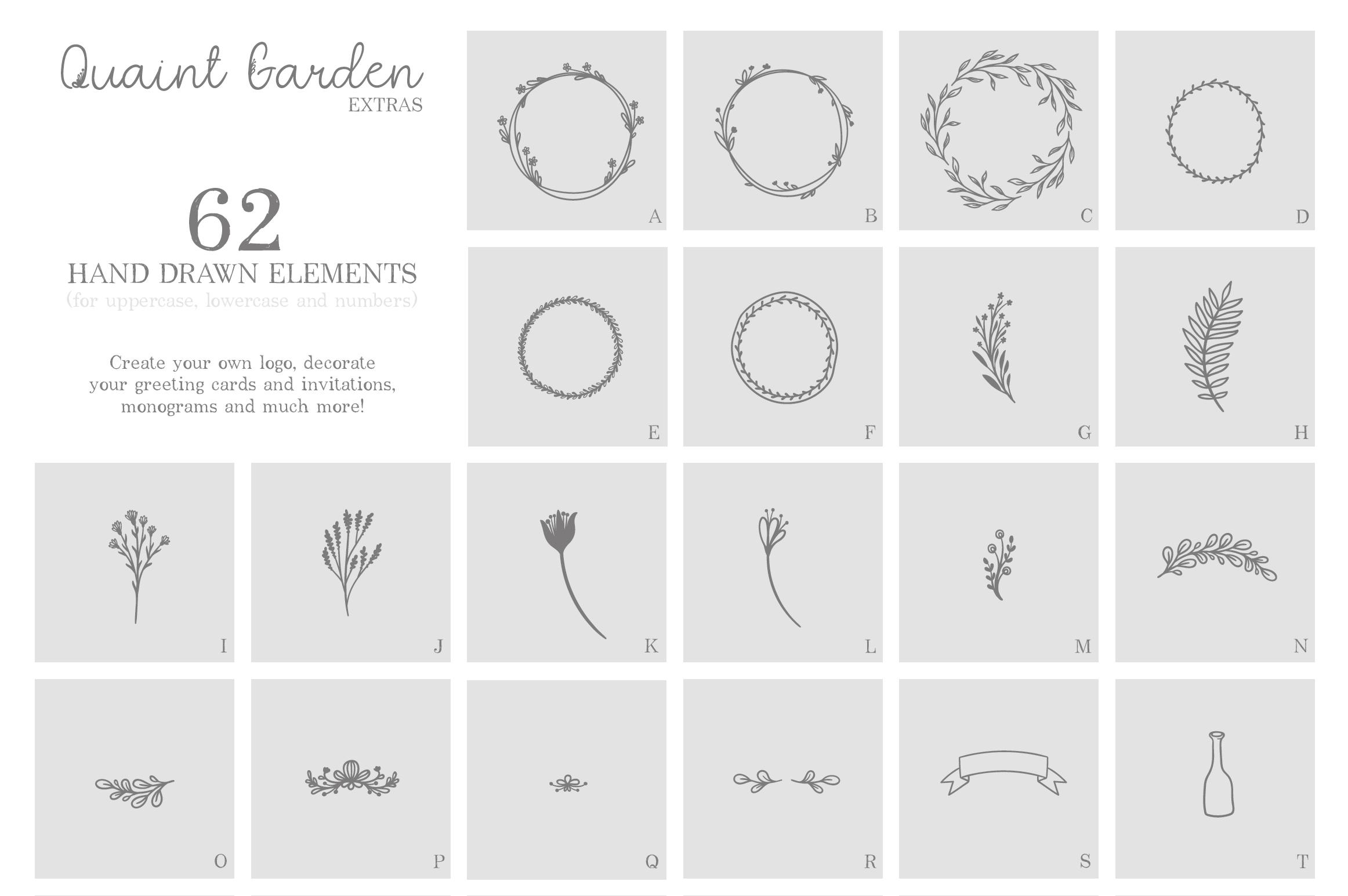 Quaint Garden Floral Font EXTRAS example image 5