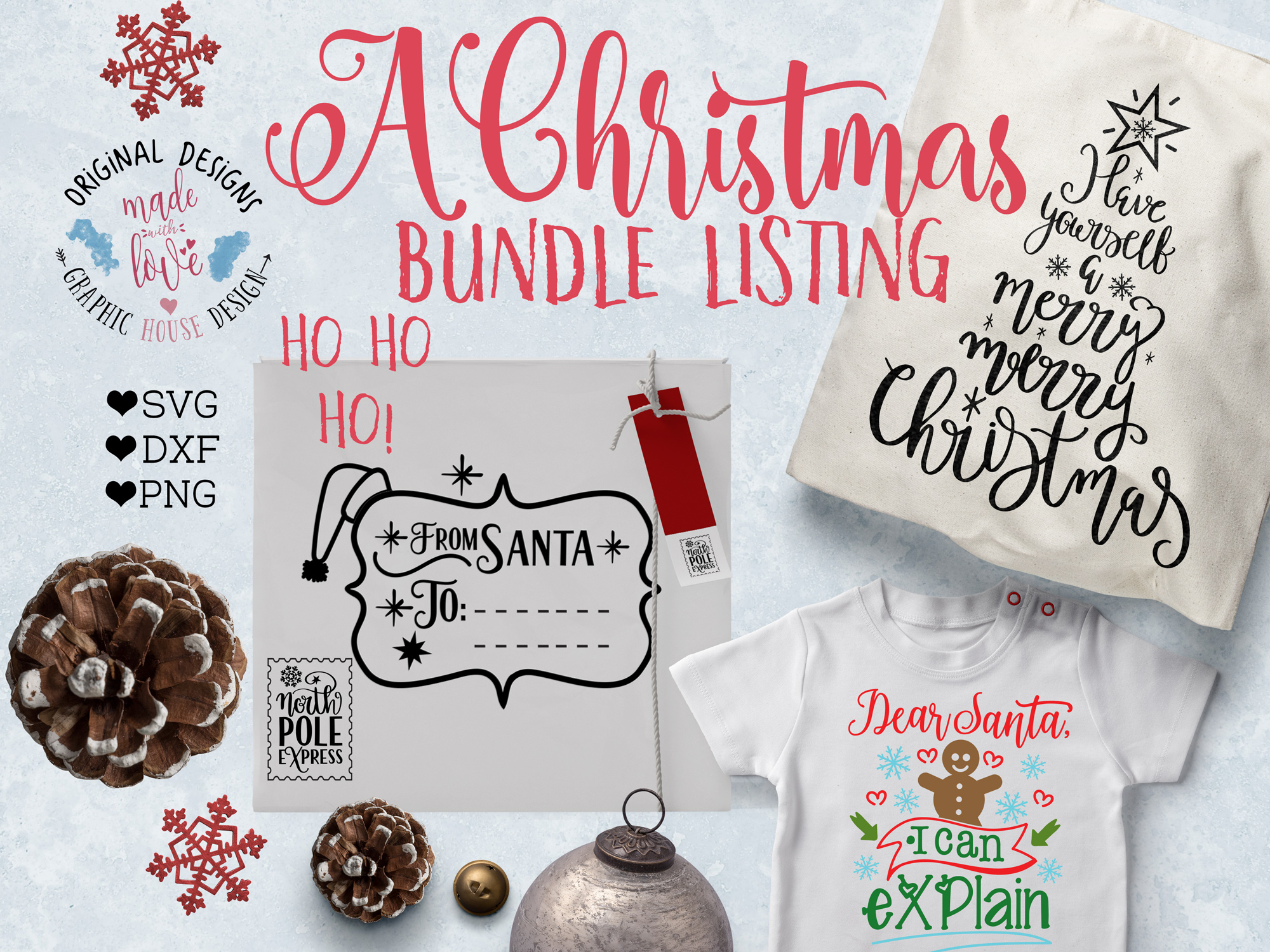 Christmas & Santa Bundle Cut Files - Christmas Cut Files example image 2